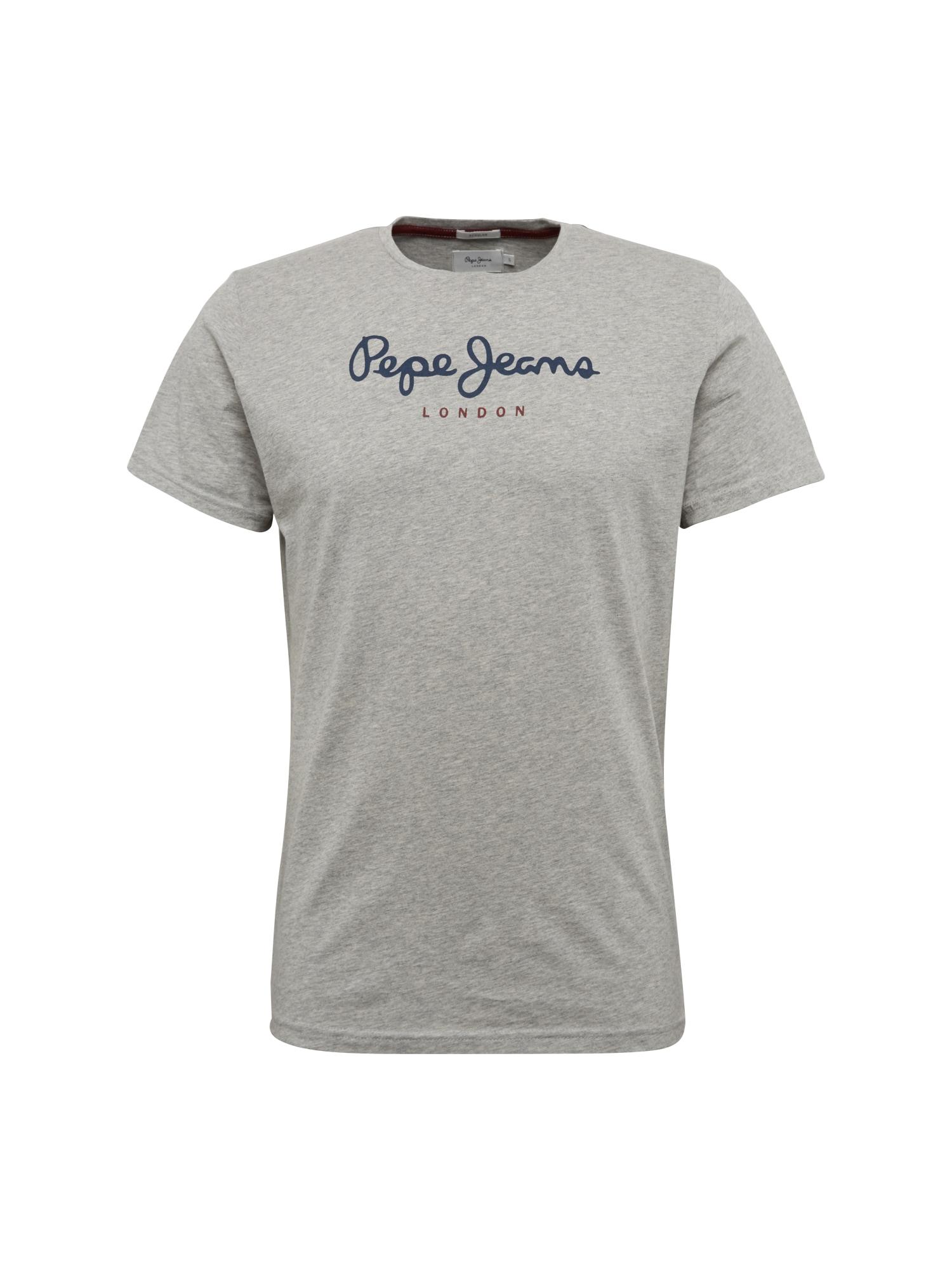 Pepe Jeans Heren Shirt EGGO donkerblauw grijs