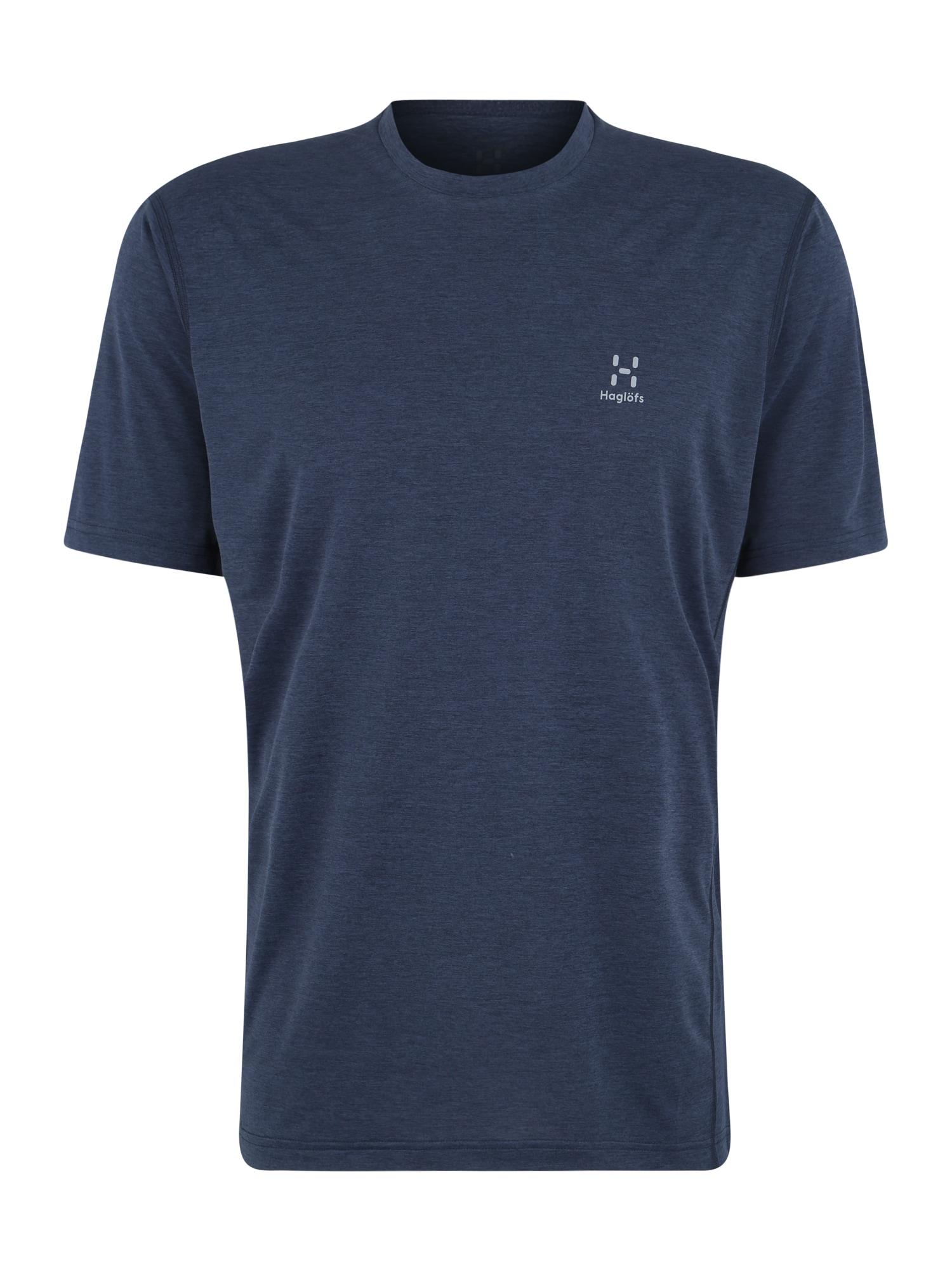 Funkční tričko Ridge Tee Men modrá Haglöfs