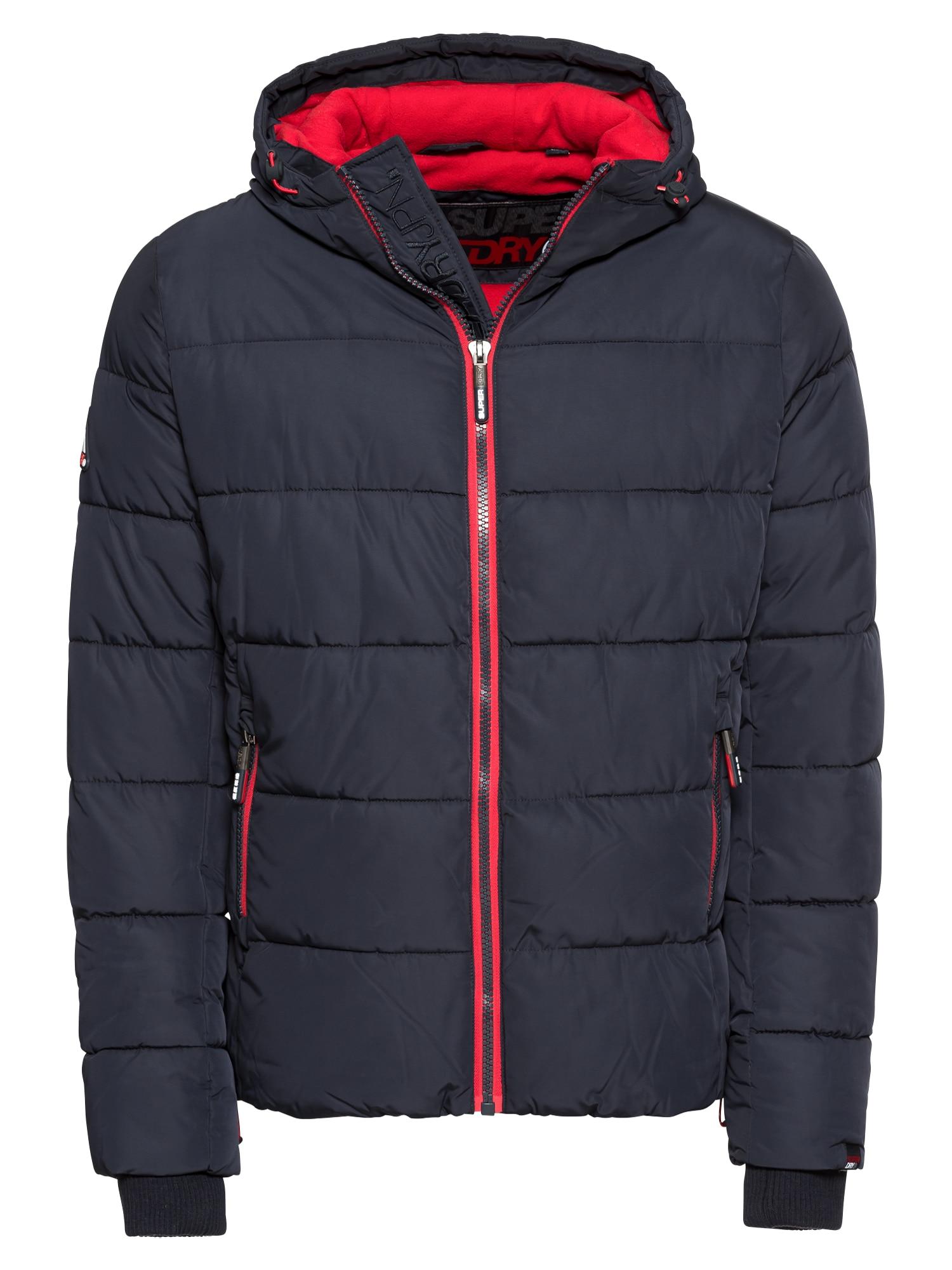 Outdoorová bunda Sports Puffer námořnická modř červená Superdry