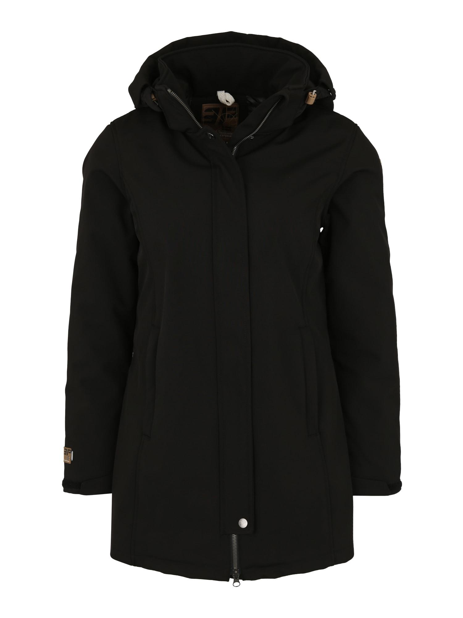 Outdoorový kabát TEZA černá ICEPEAK