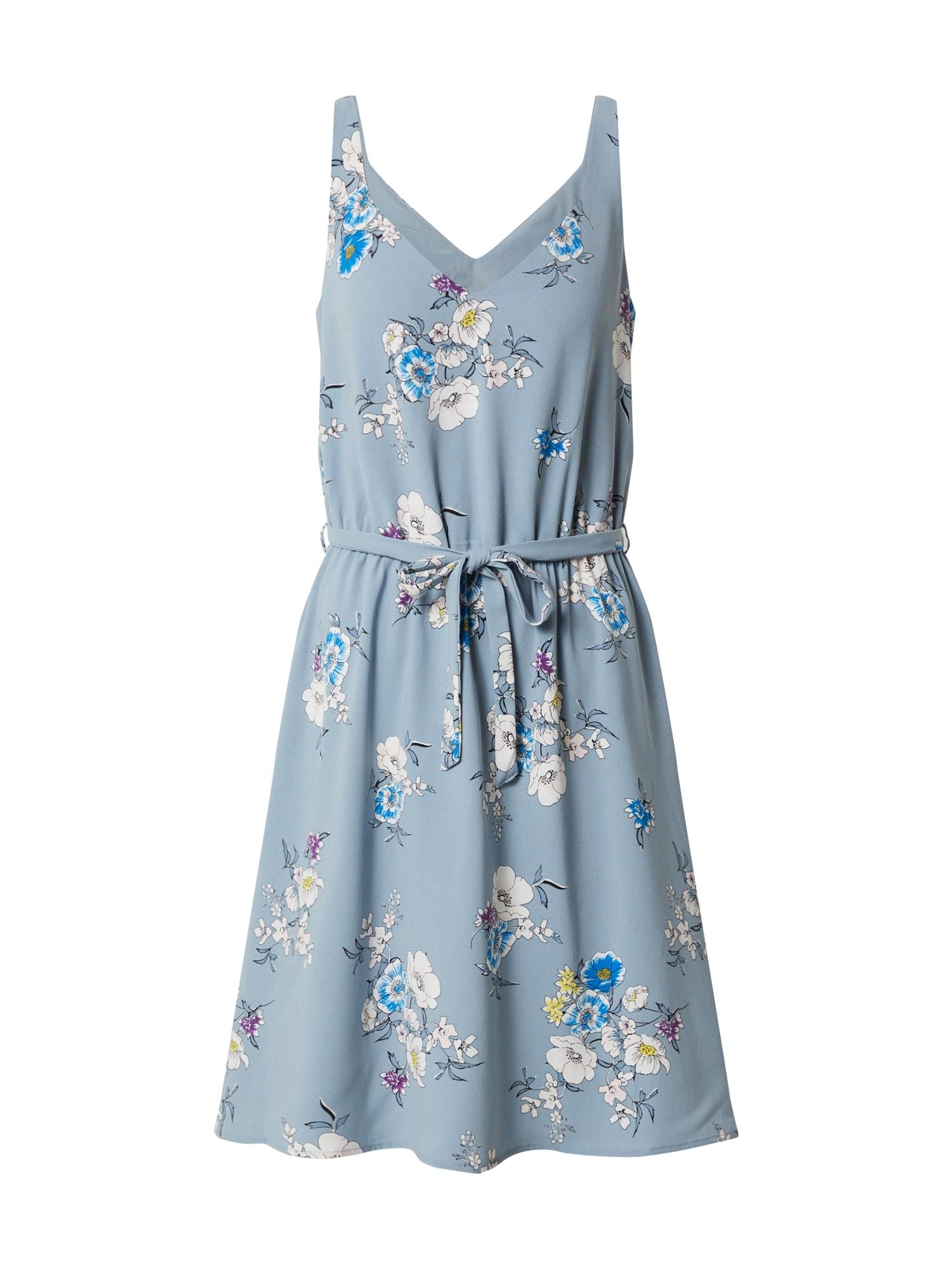 VILA Letní šaty 'Viliaia S/L V-Neck Dress/ AY'  modrá