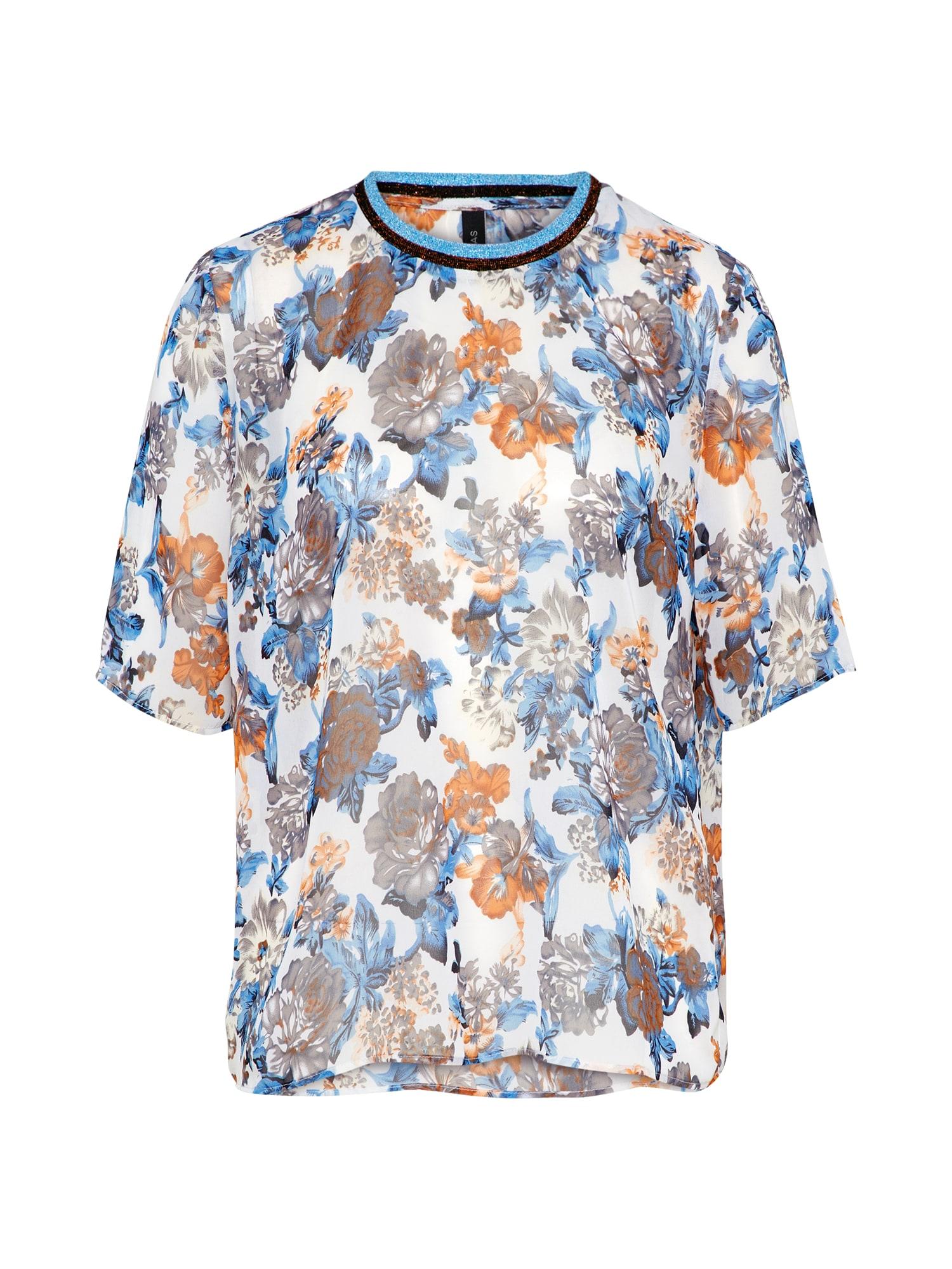 Tričko YASBLUSH modrá koňaková bílá Y.A.S