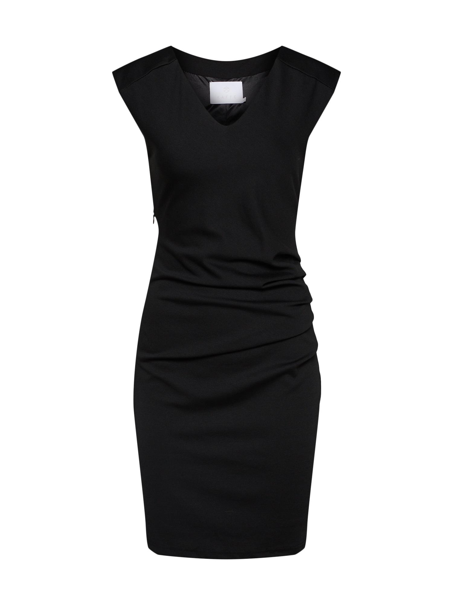 Pouzdrové šaty India černá Kaffe