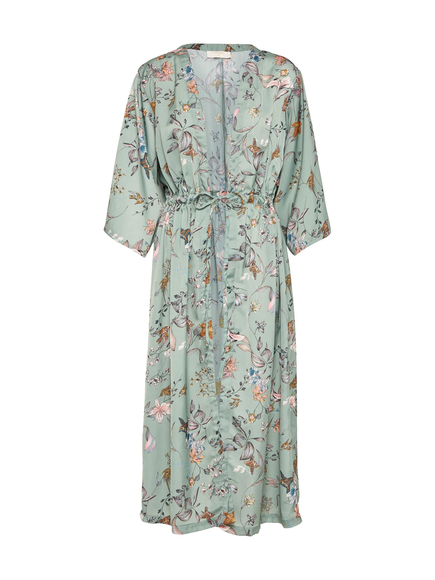 Cream, Dames Kimono 'Zuli', jade groen / gemengde kleuren