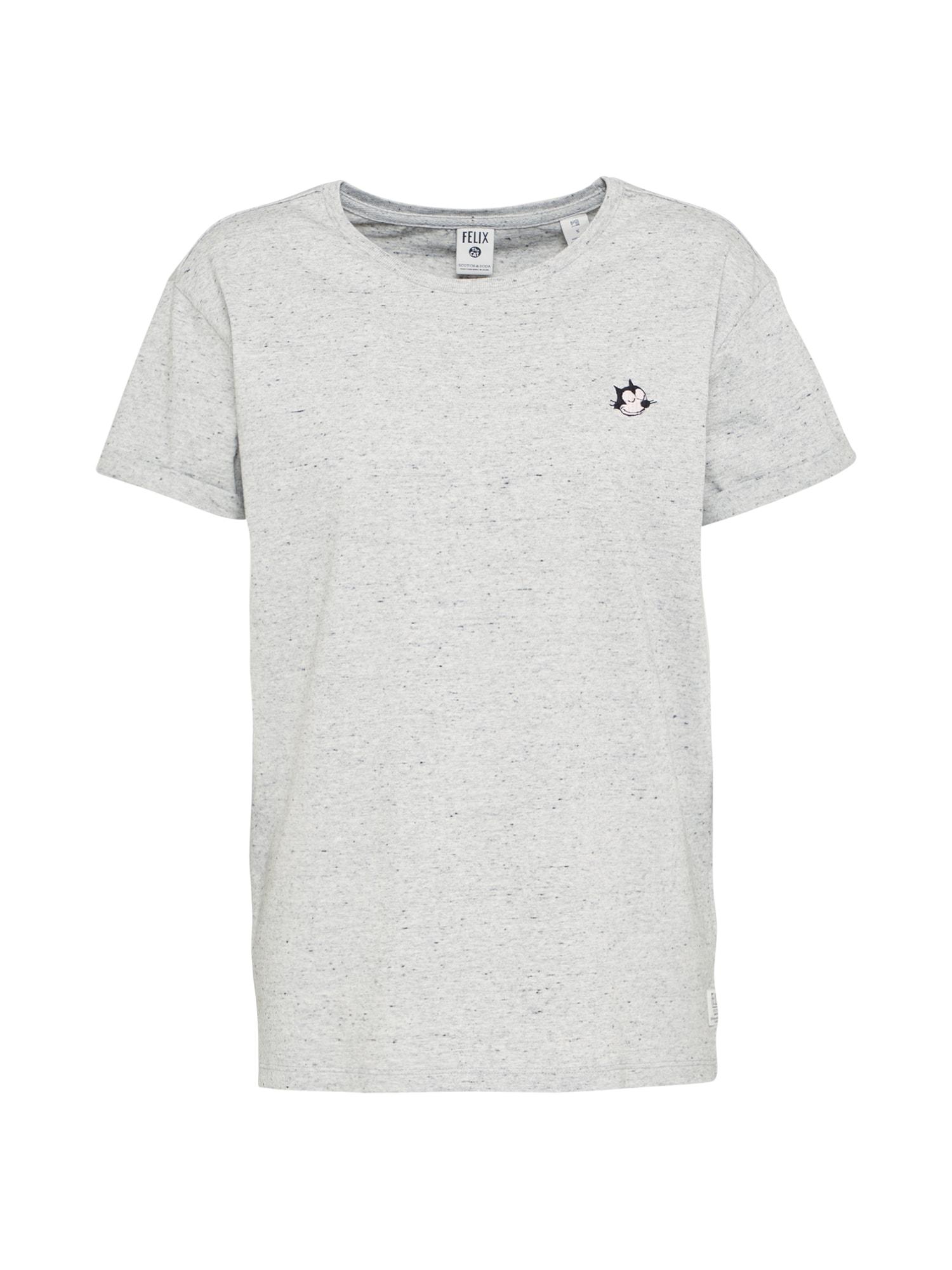 SCOTCH  and  SODA Dames Shirt Felix Ams Blauw grijs gemêleerd