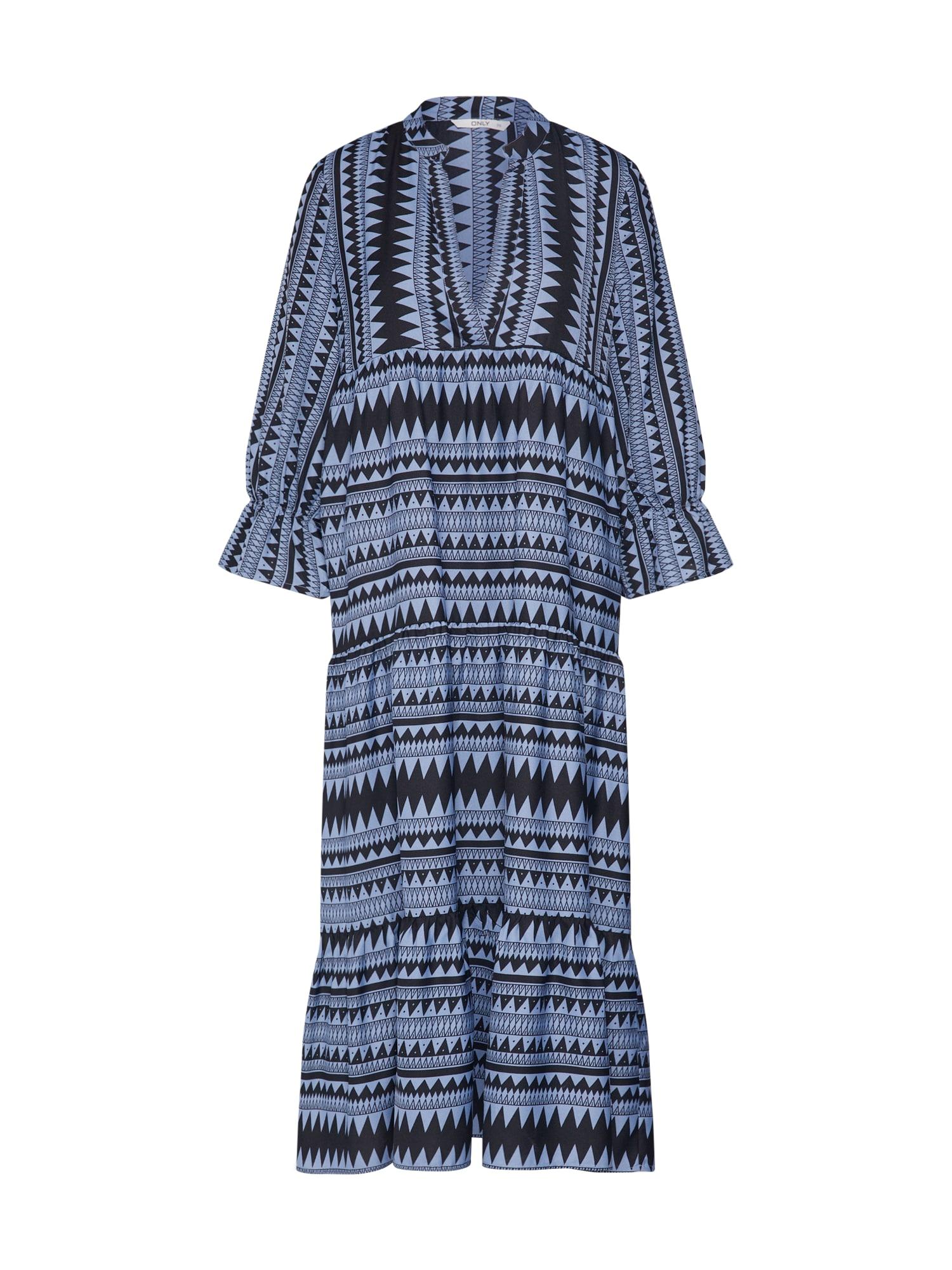 ONLY Šaty 'ONLNAYA ATHENA'  černá / marine modrá