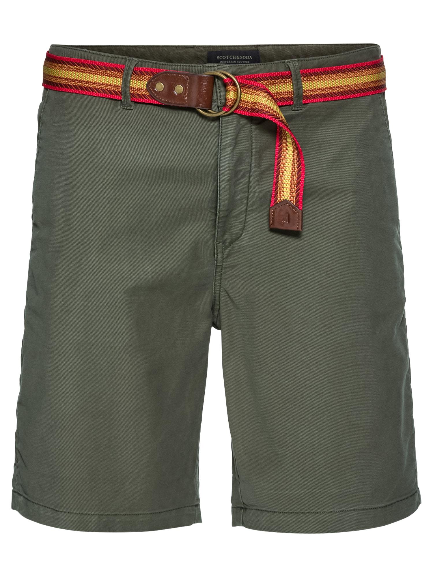 Chino kalhoty žlutá khaki červená oranžově červená SCOTCH & SODA