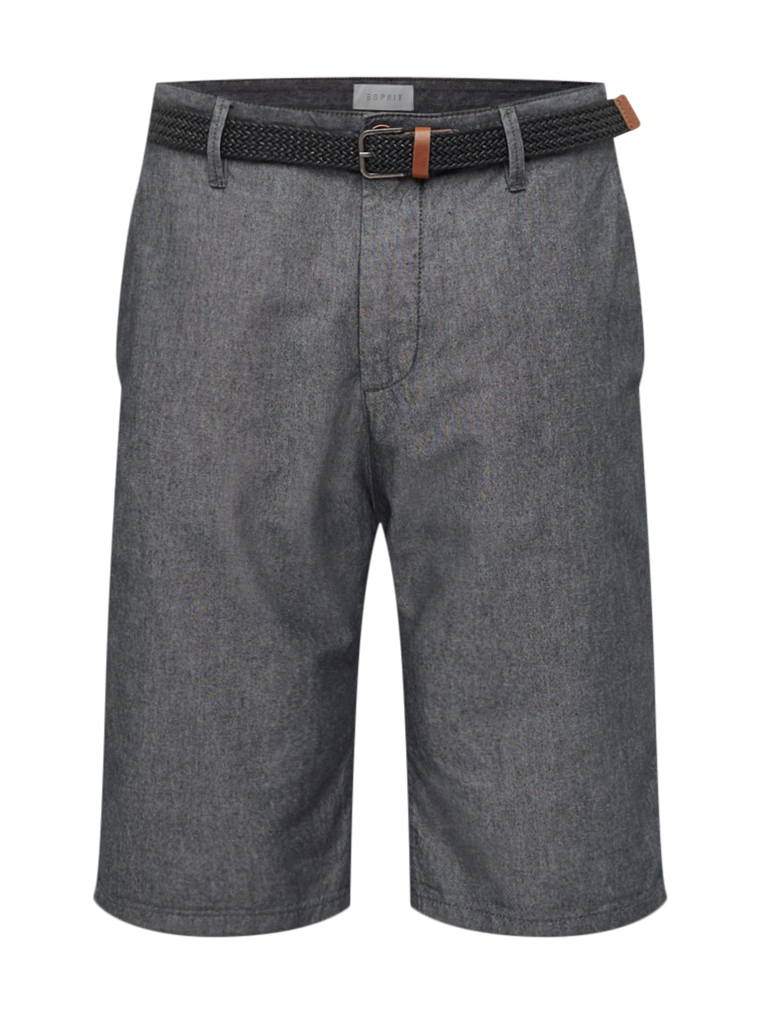 Chino kalhoty CHAMBRAY CHINO antracitová ESPRIT