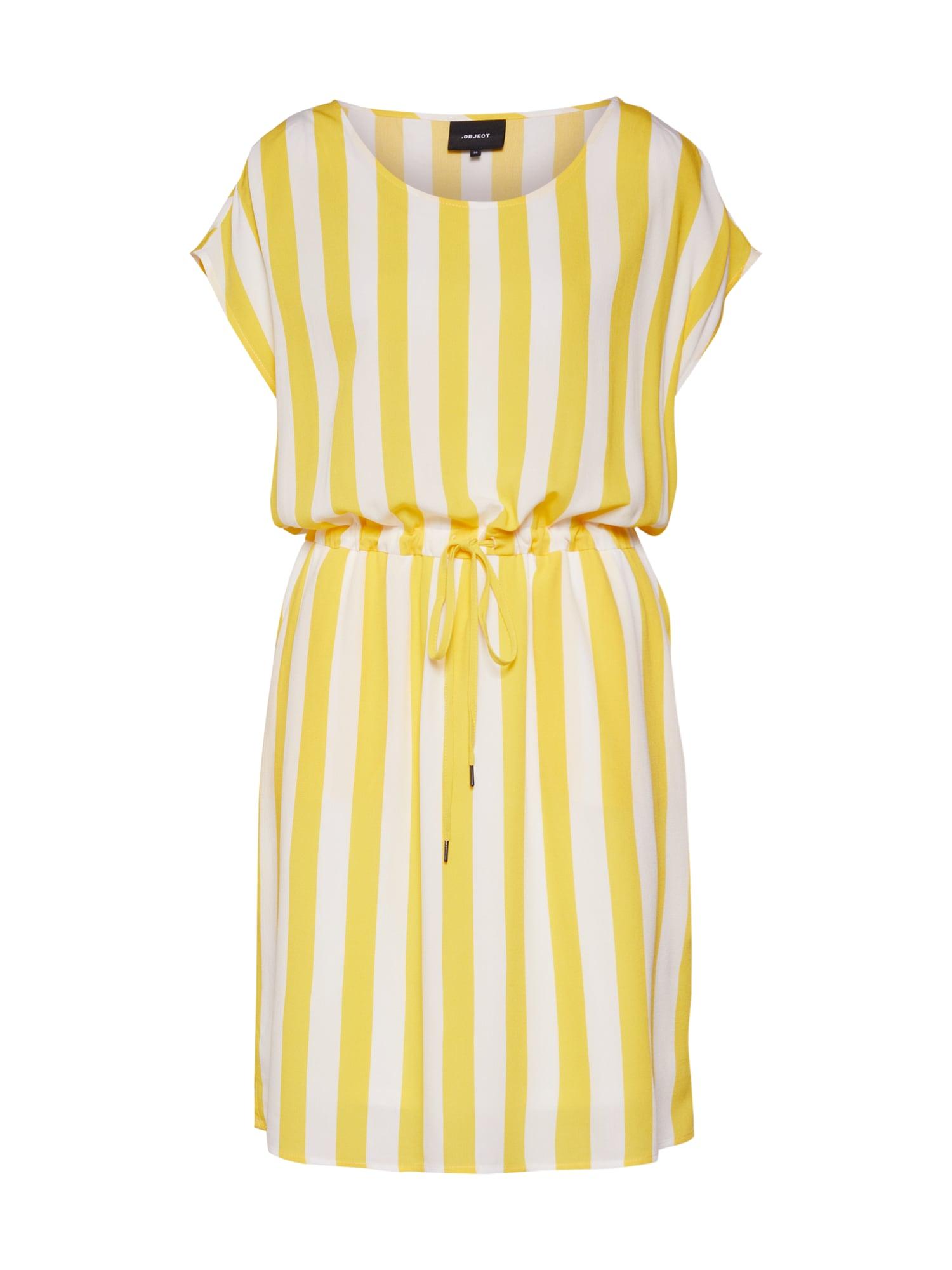 Letní šaty Bay Dallas žlutá bílá OBJECT