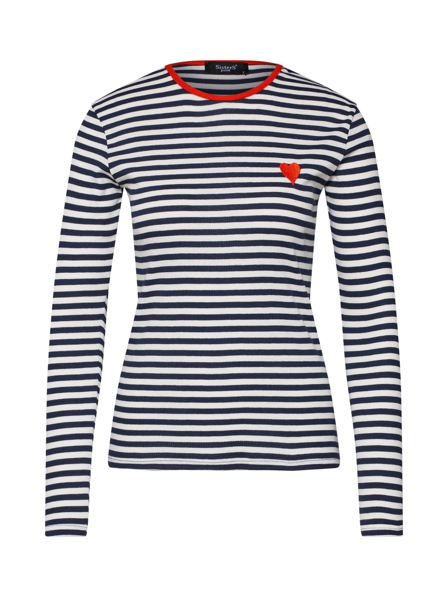 Tričko HUST-LS2 námořnická modř světle červená bílá SISTERS POINT