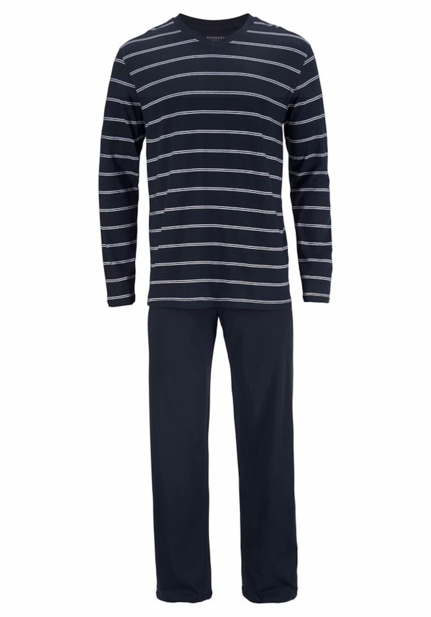 Pyžamové kalhoty námořnická modř SCHIESSER
