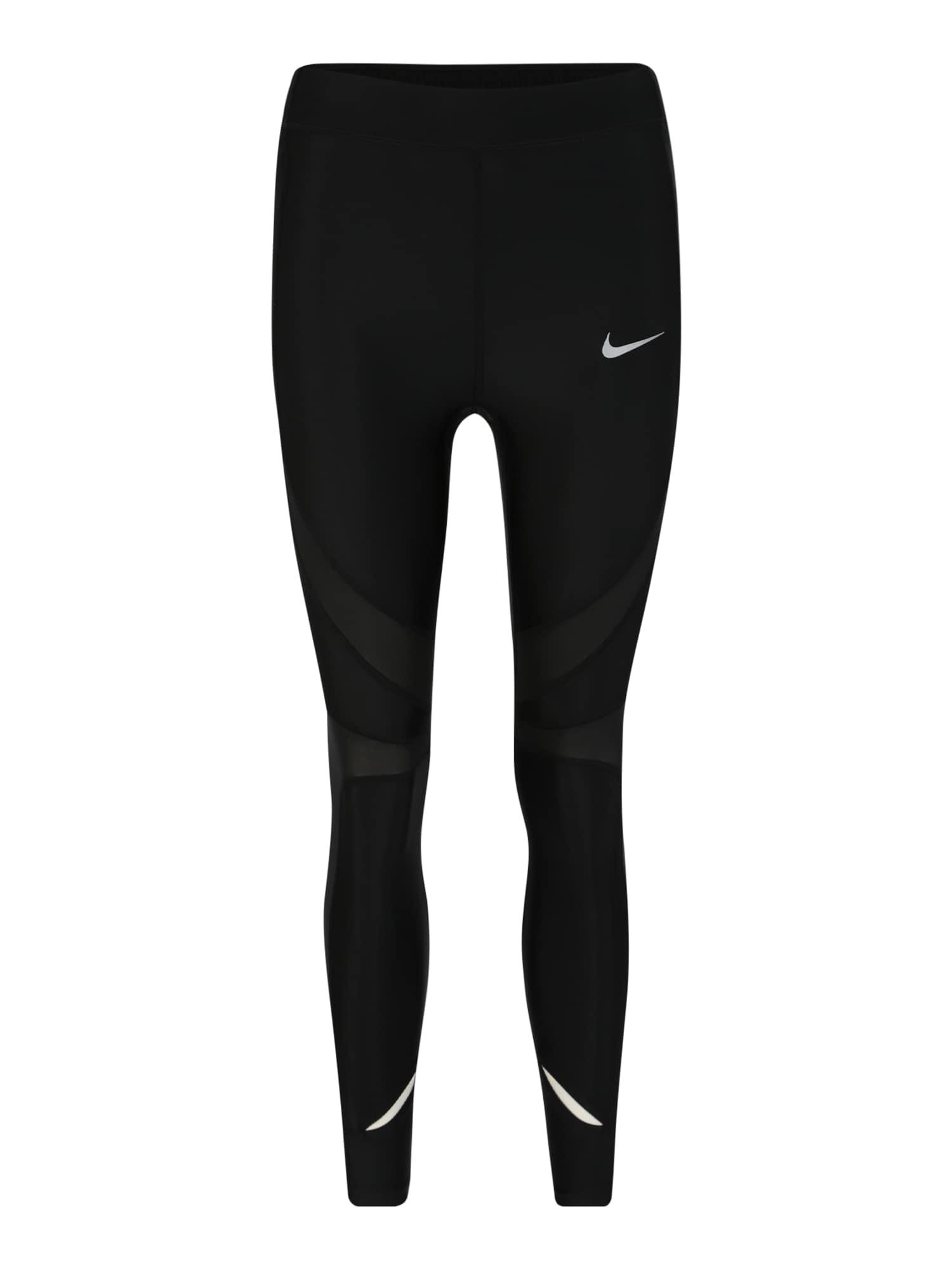 Sportovní kalhoty SPEED černá stříbrná NIKE