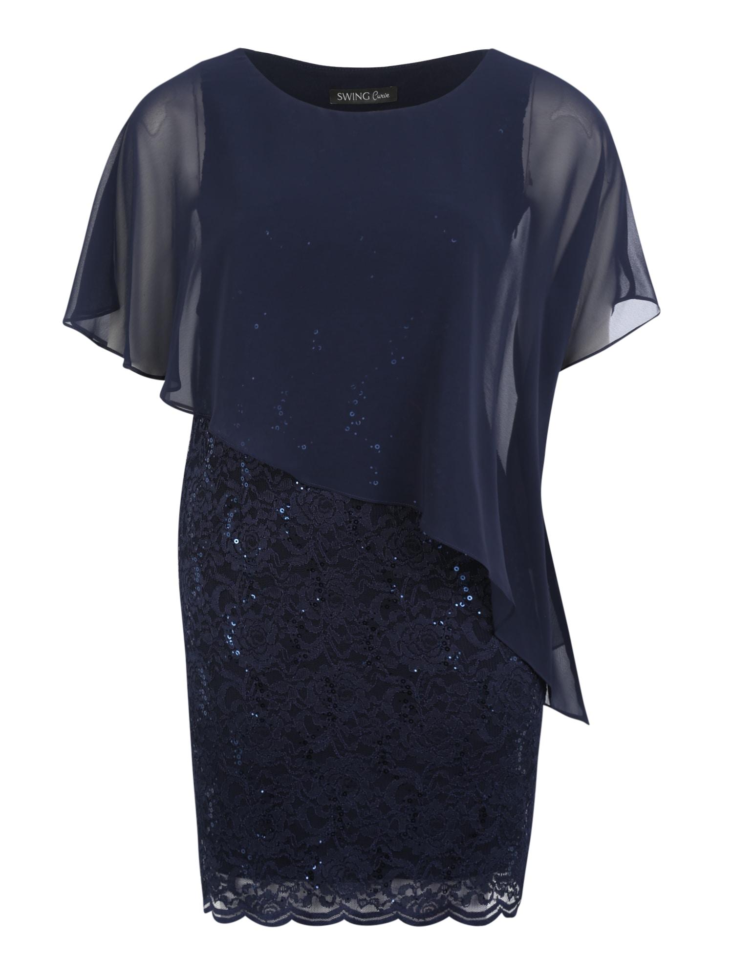 Společenské šaty marine modrá SWING Curve