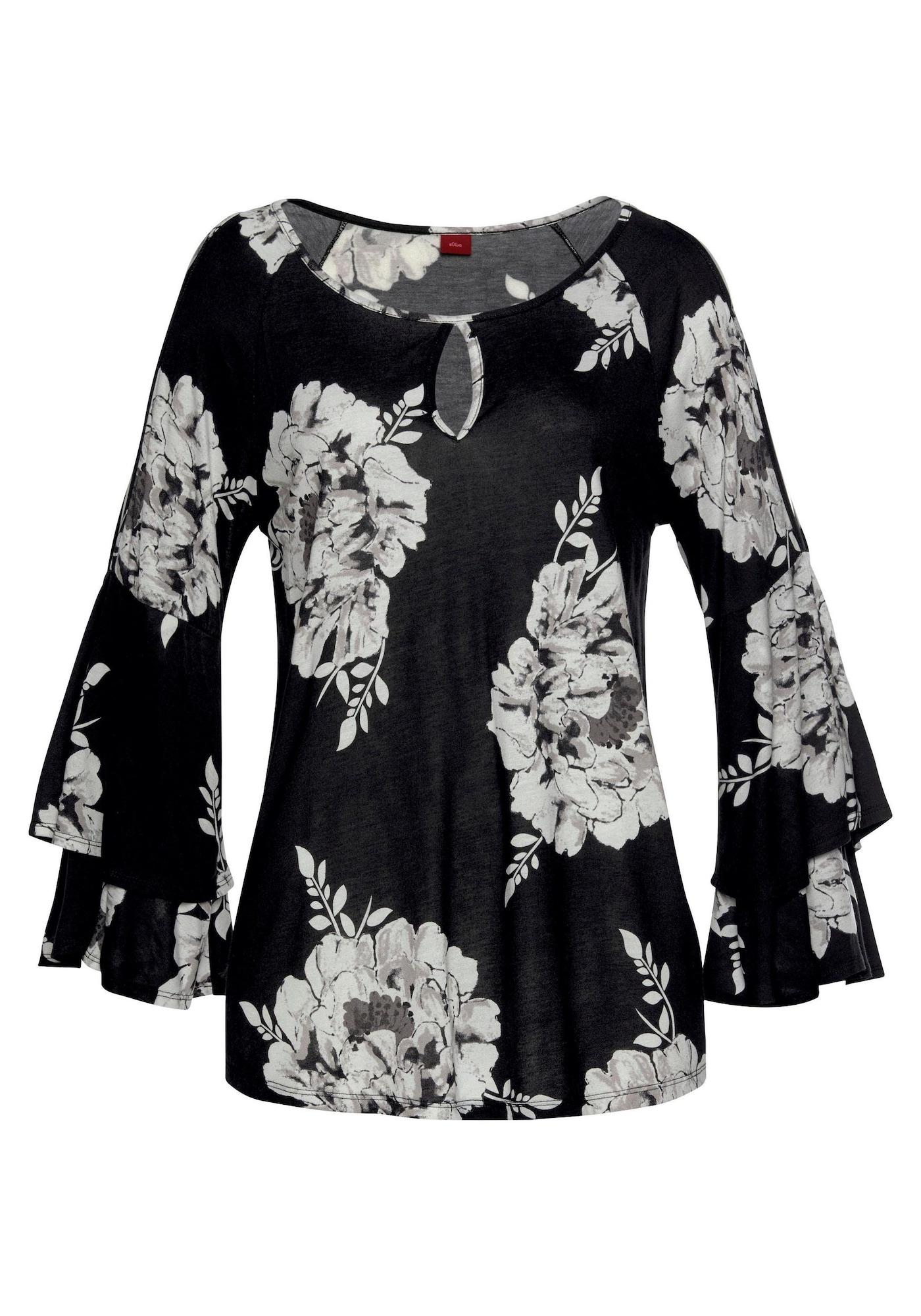 Tričko černá bílá LASCANA