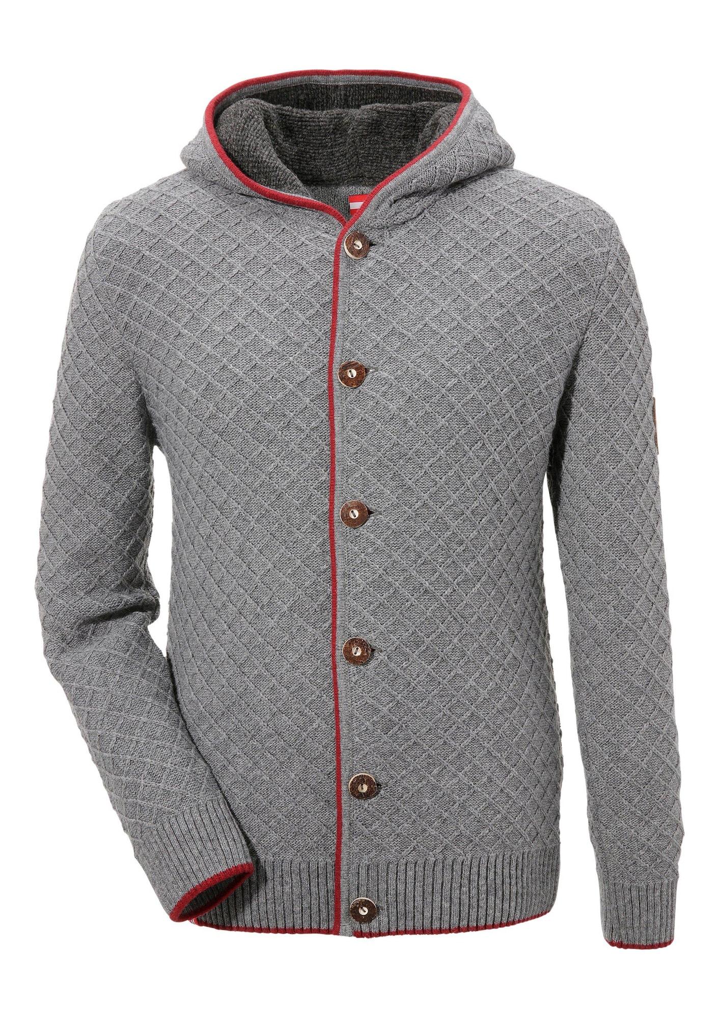Trachtenstrickjacke | Bekleidung > Strickjacken & Cardigans | Grau | Almgwand