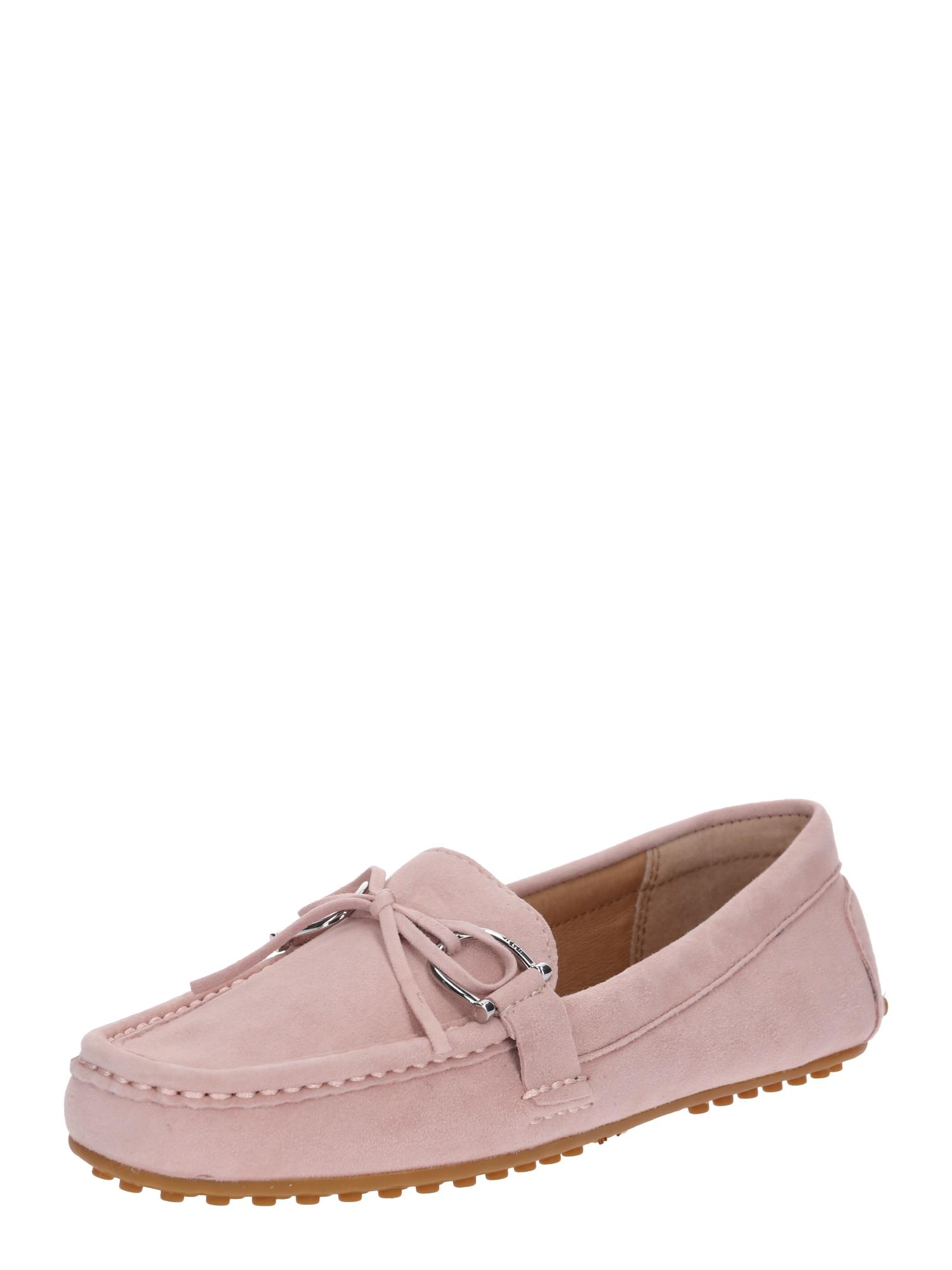 Pantofle briley II kidsuede růžová Lauren Ralph Lauren