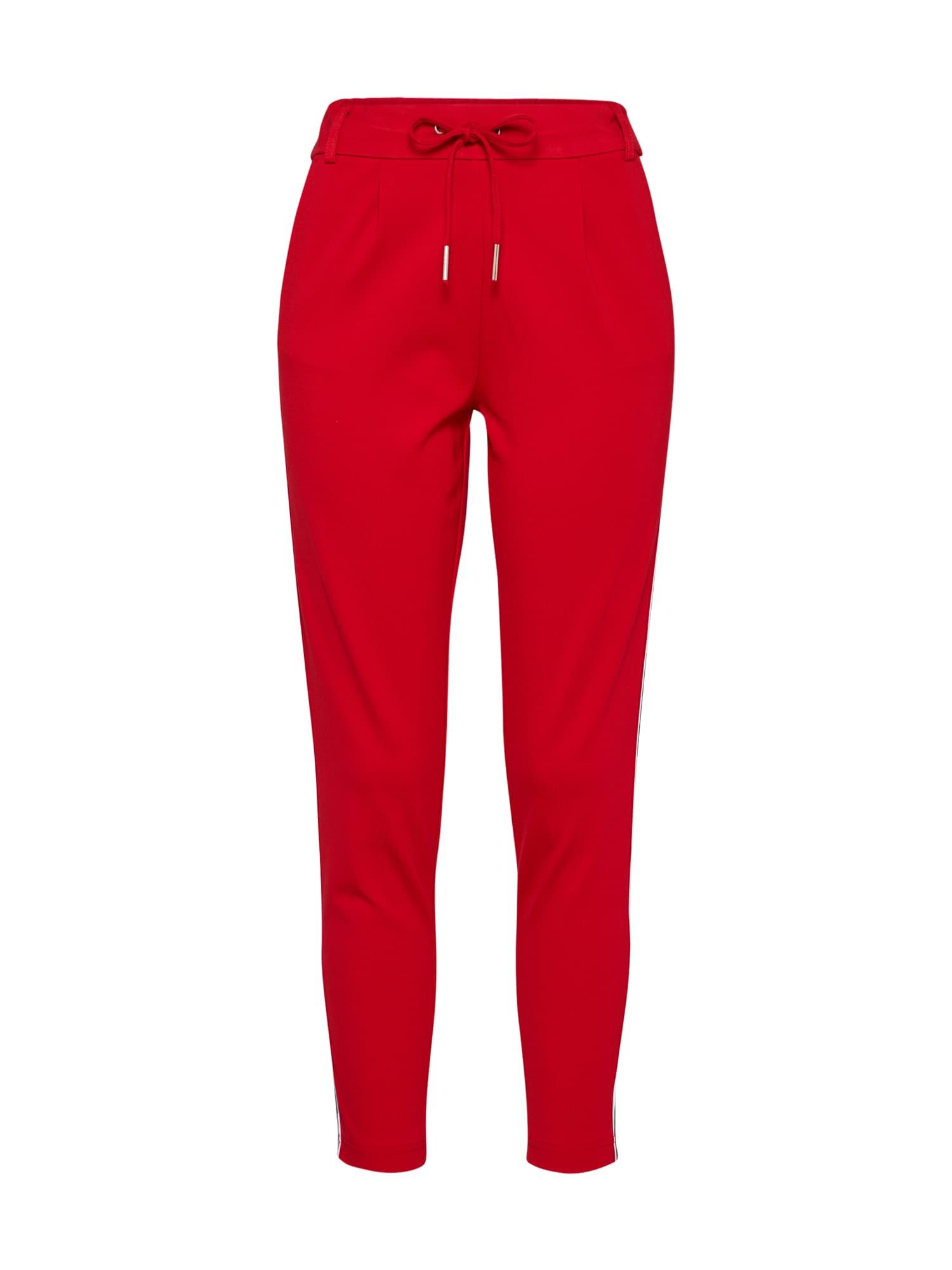 Kalhoty se sklady v pase onlPOPTRASH EASY SPORT červená ONLY