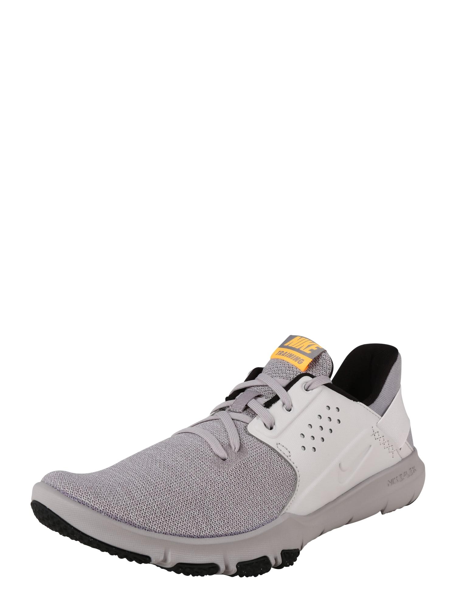 Sportovní boty Flex Control 3 světle šedá oranžová NIKE