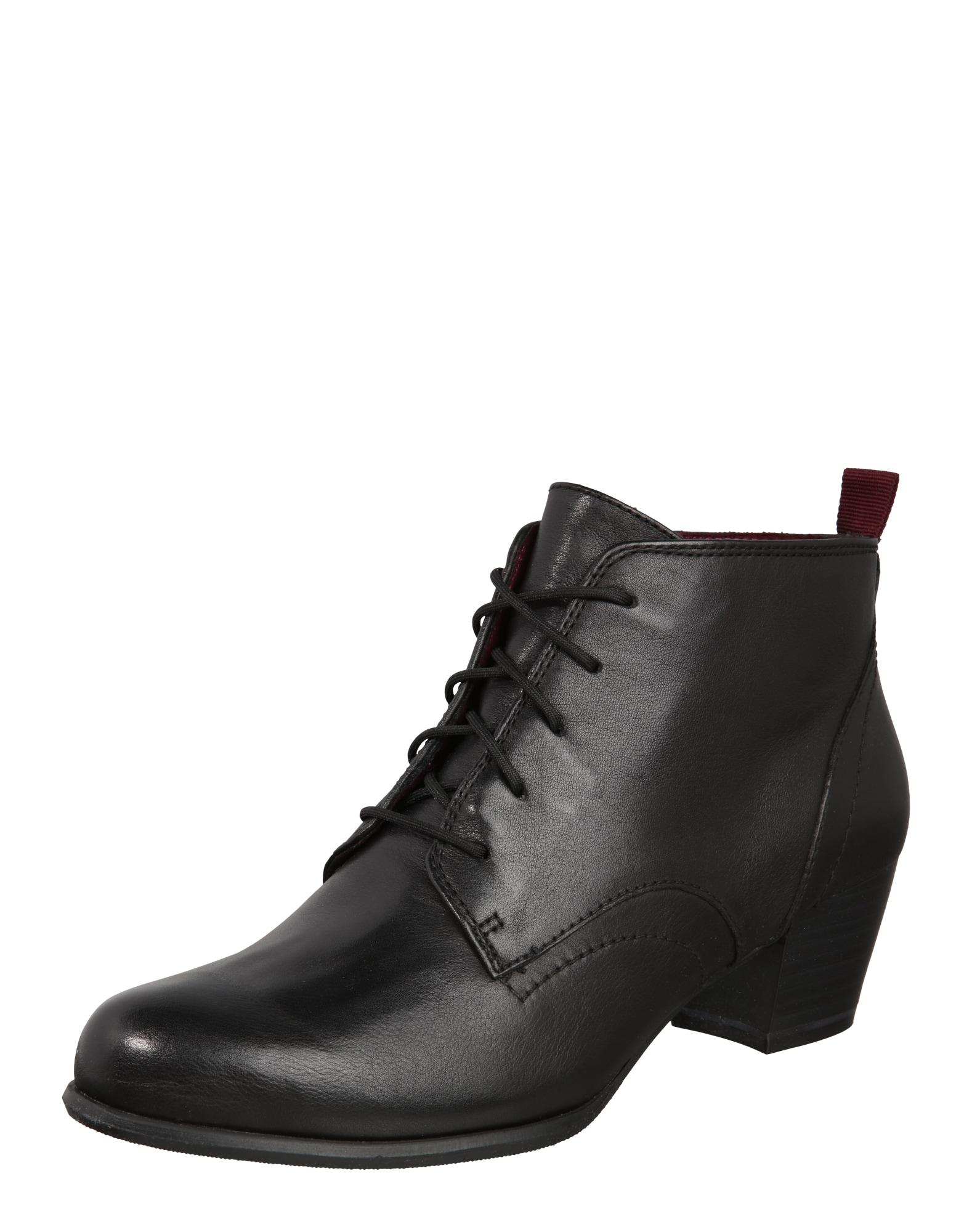 Schnürstiefelette   Schuhe > Stiefel > Schnürstiefel   Schwarz   tamaris