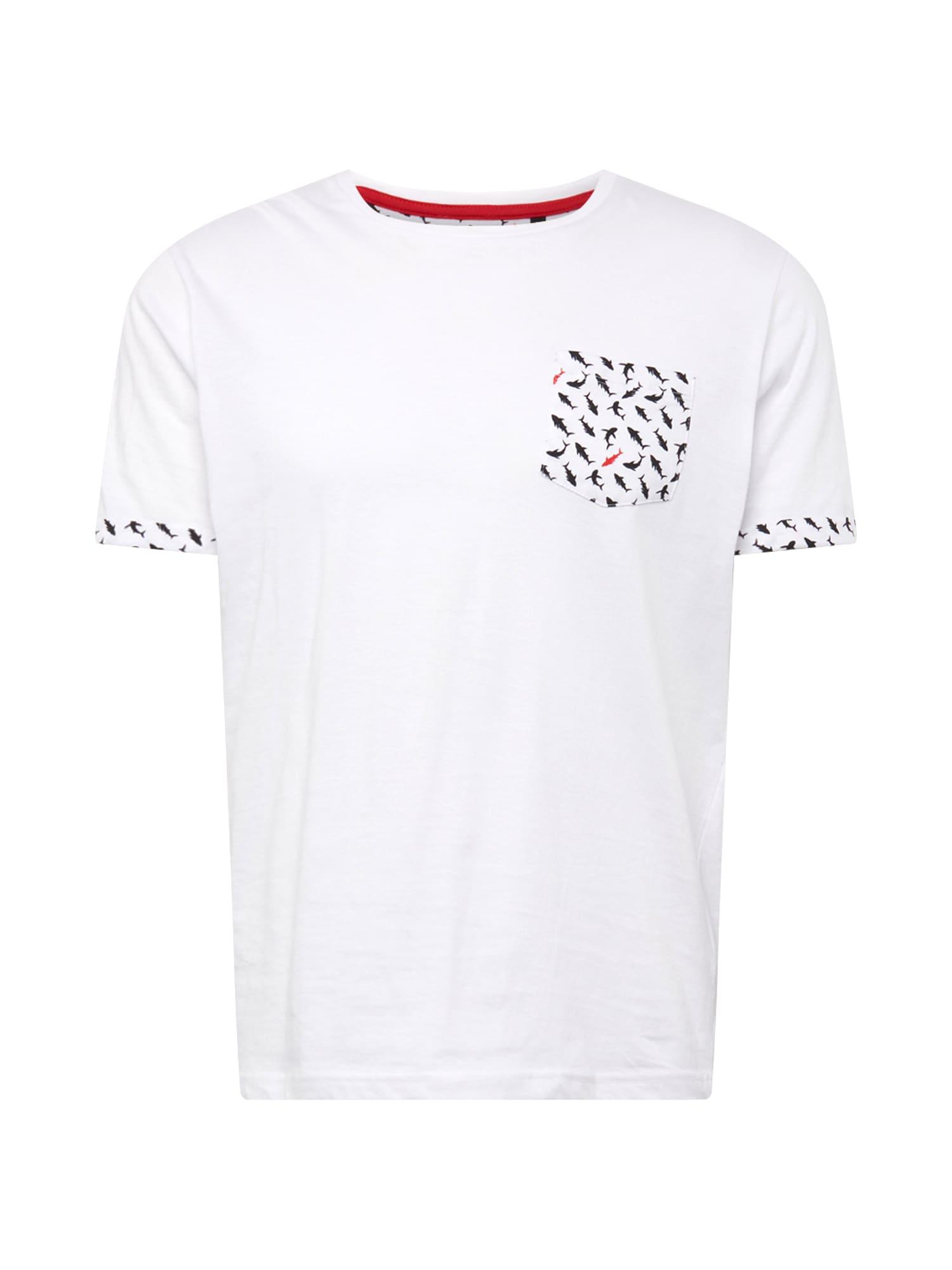 Tričko červená černá bílá BRAVE SOUL