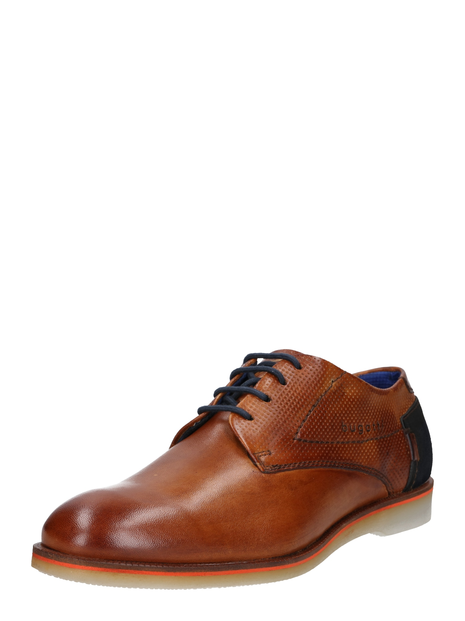 Šněrovací boty Melchiore námořnická modř koňaková Bugatti
