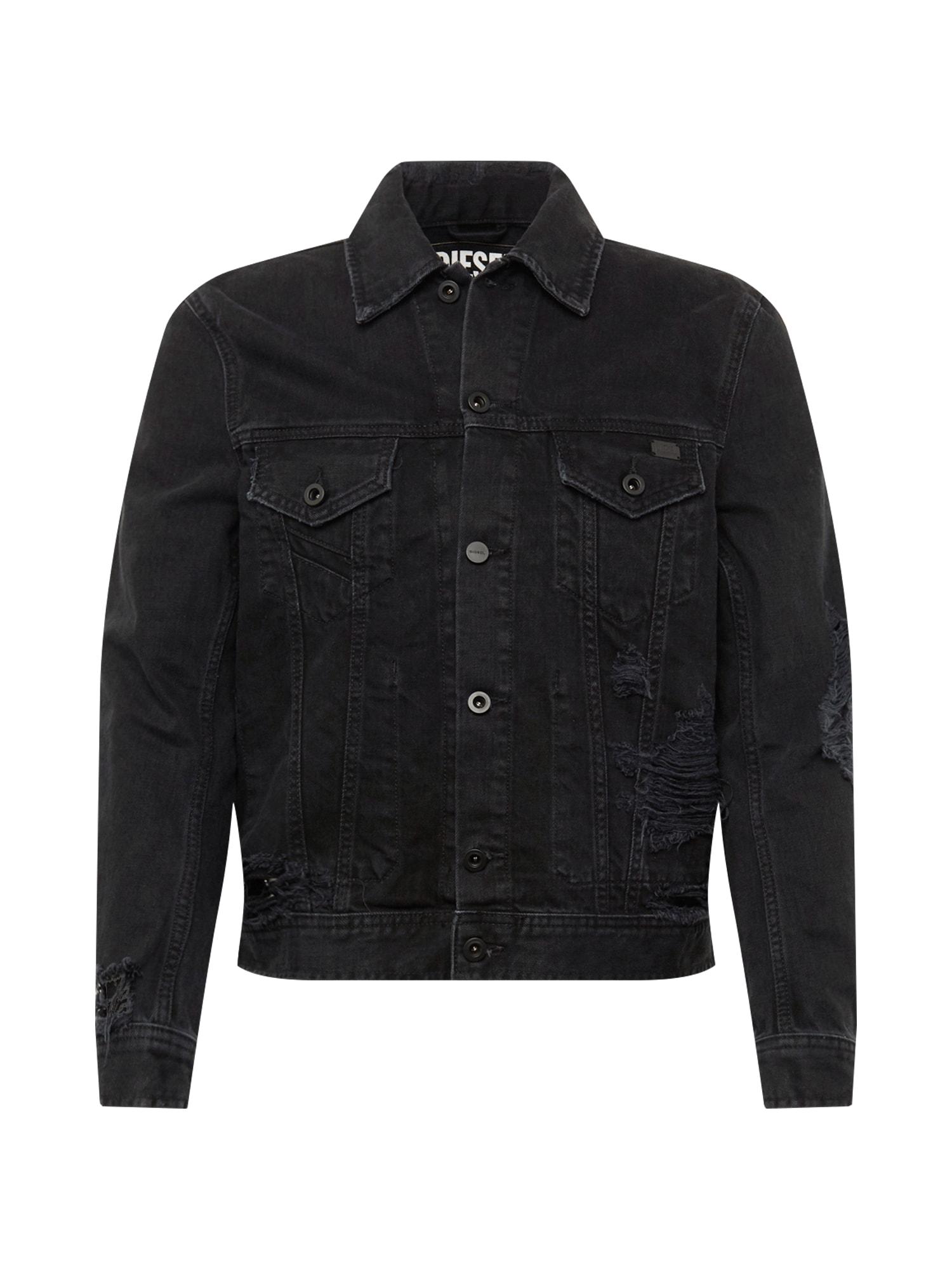 Přechodná bunda D-BRAY JACKE černá džínovina DIESEL