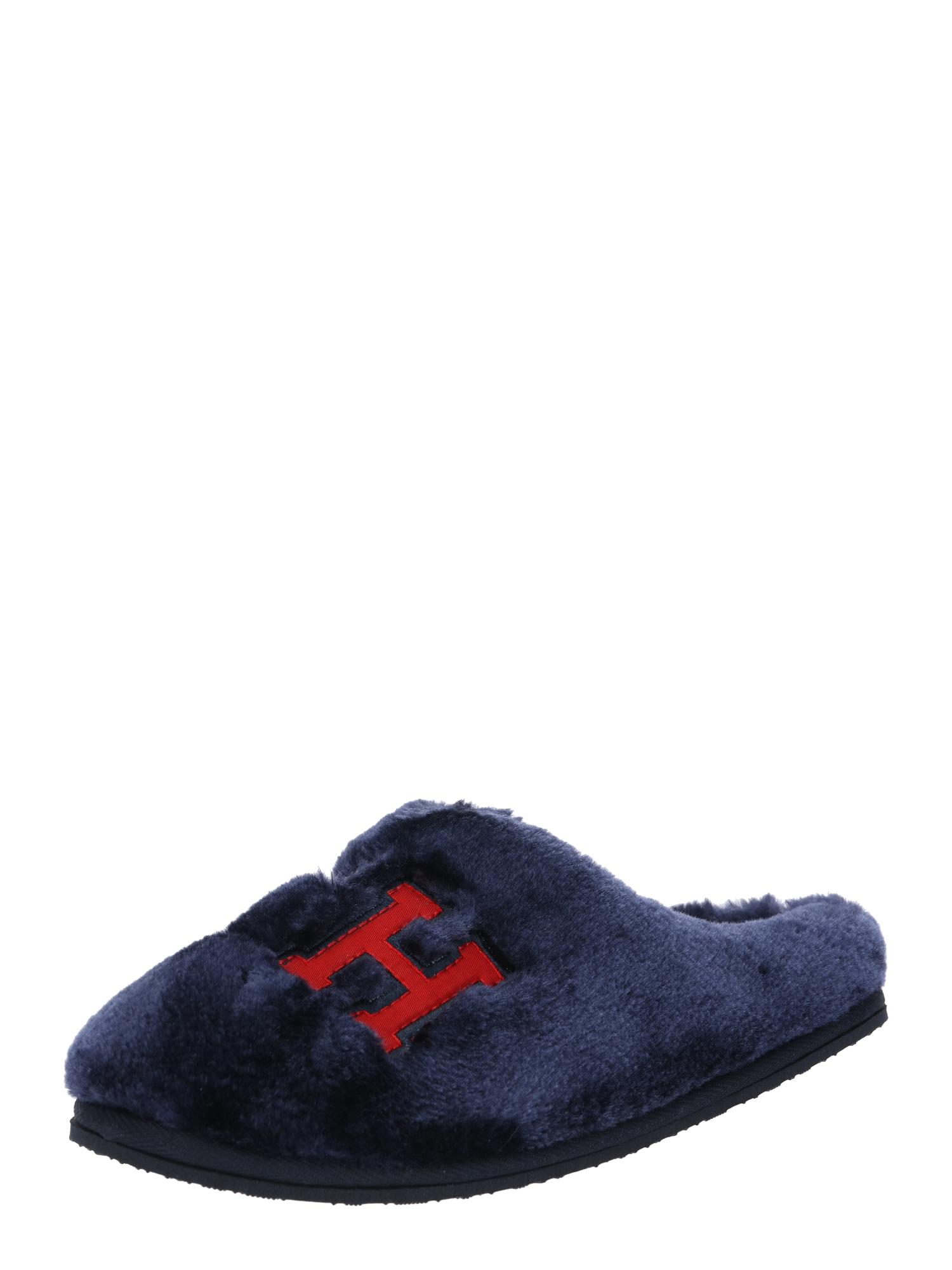 Pantofle Love tommy home námořnická modř červená TOMMY HILFIGER
