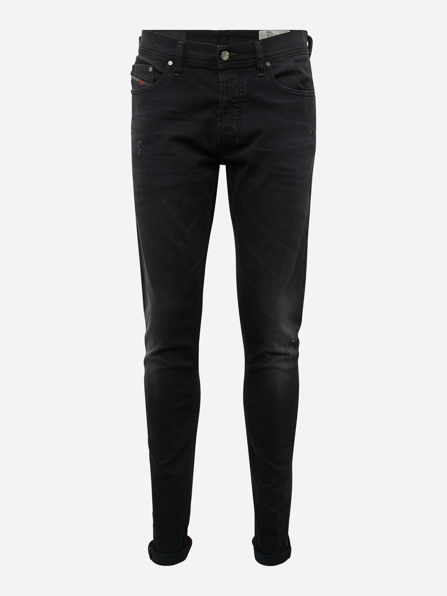 DIESEL Heren Jeans Tepphar black denim