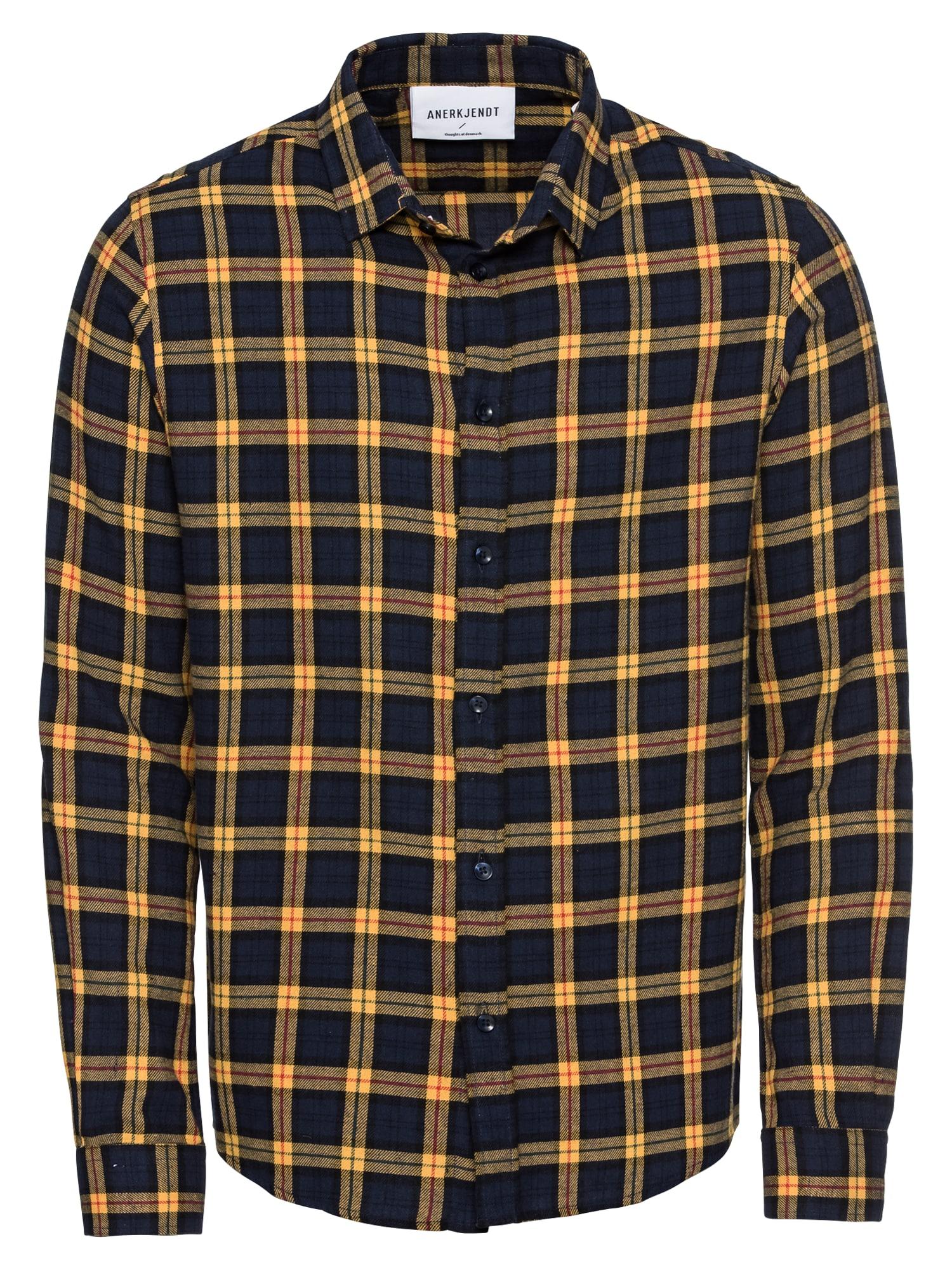 Košile Konrad noční modrá žlutá Anerkjendt