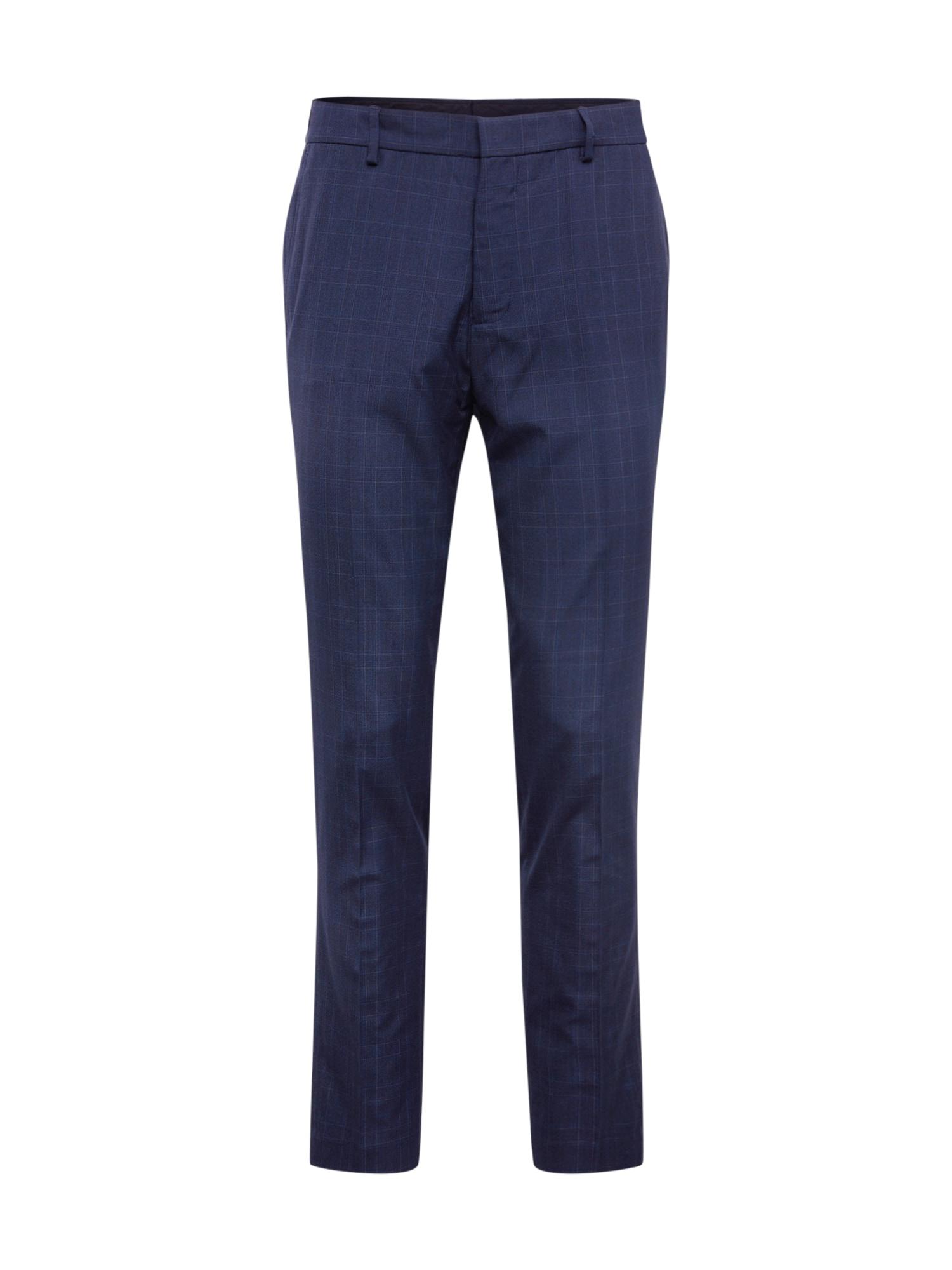 BURTON MENSWEAR LONDON Plisované nohavice  modré