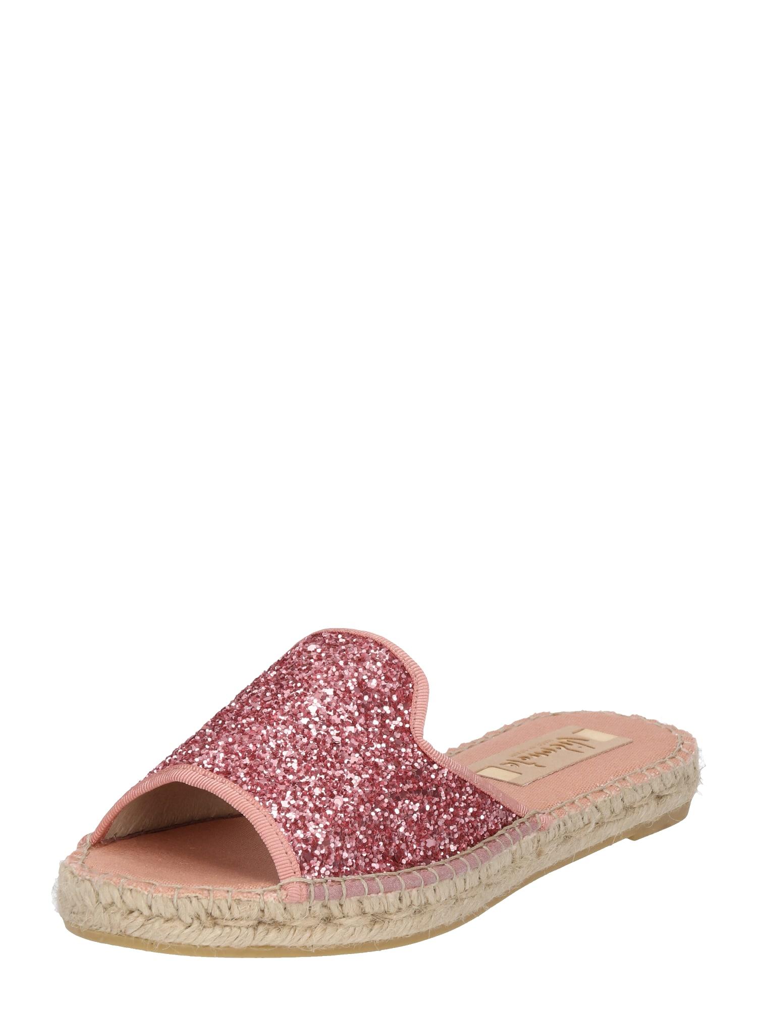 Pantofle starorůžová tmavě růžová Vidorreta