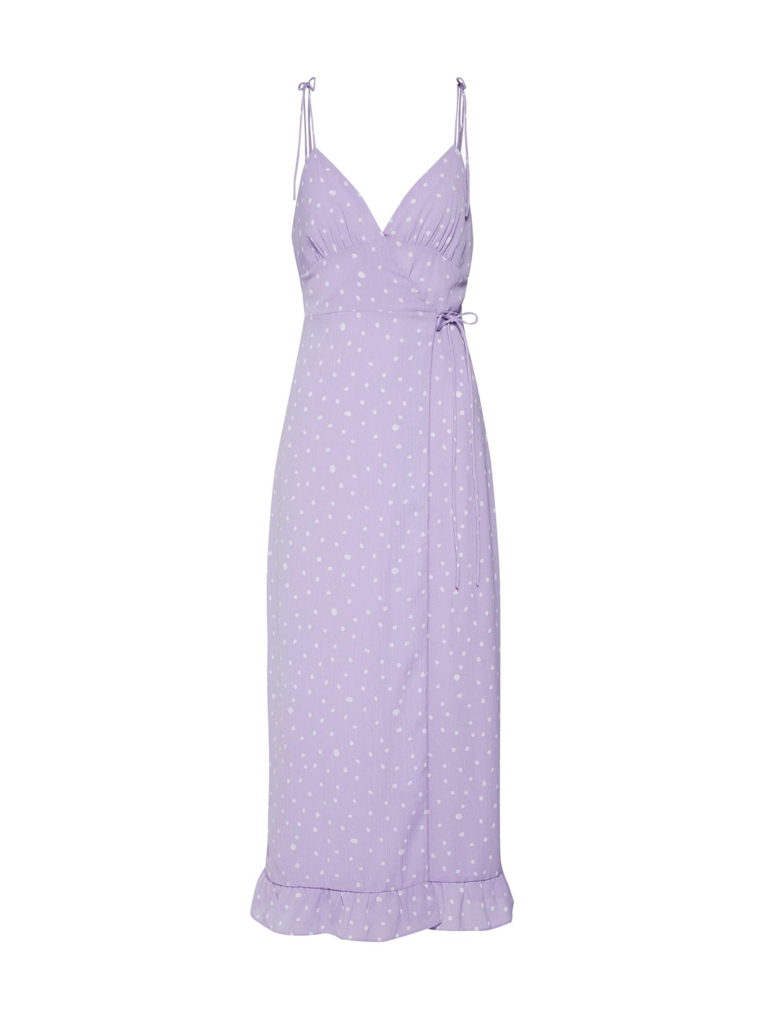 Letní šaty Nerry šeříková bílá Fashion Union