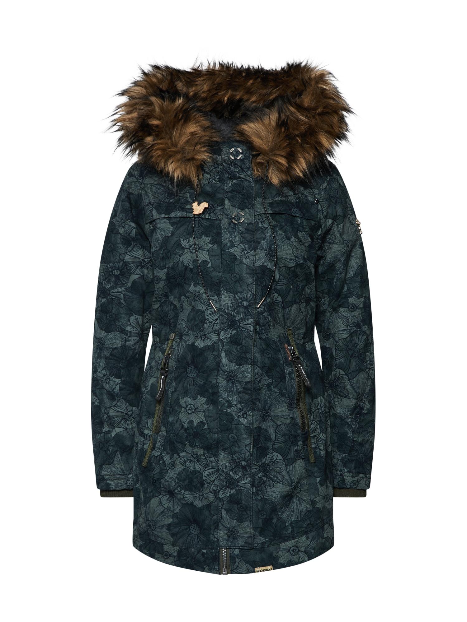 Zimní bunda BANITA WITH IJ (HQ7) antracitová zelená Khujo