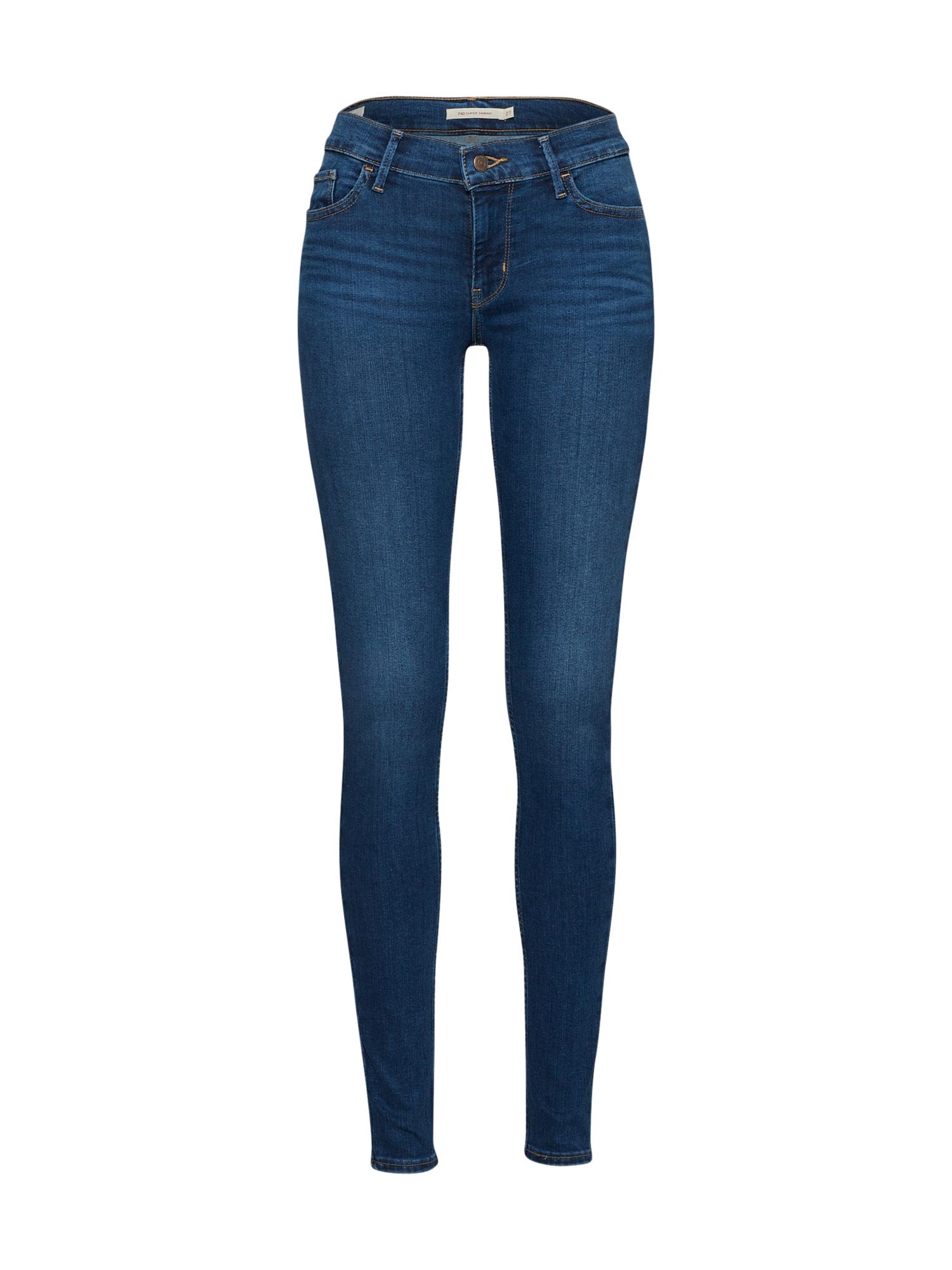 LEVI'S Dames Jeans 710 Innovation Super Skinny blauw denim