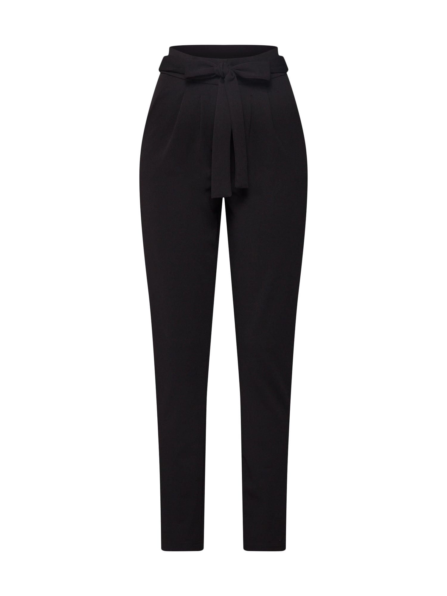 Kalhoty se sklady v pase černá JACQUELINE De YONG