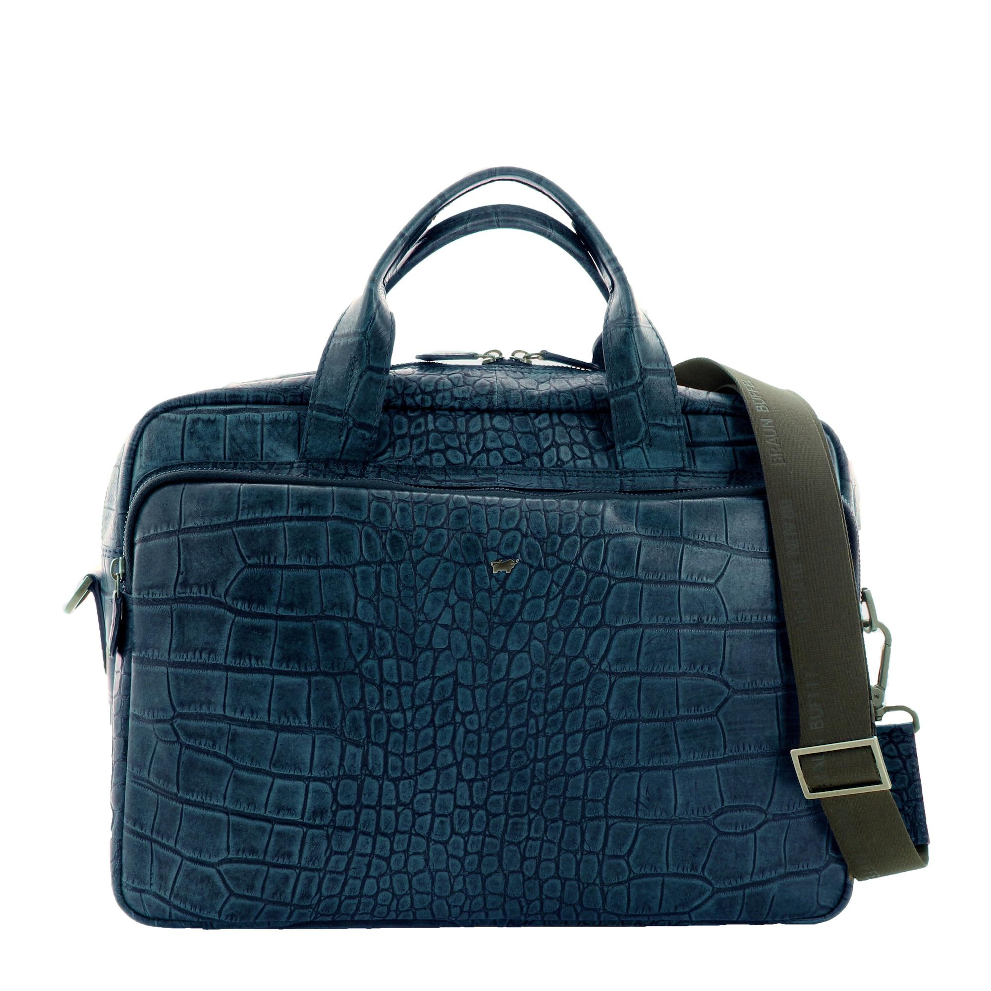Businesstasche | Taschen > Business Taschen > Sonstige Businesstaschen | Blau | Braun Büffel