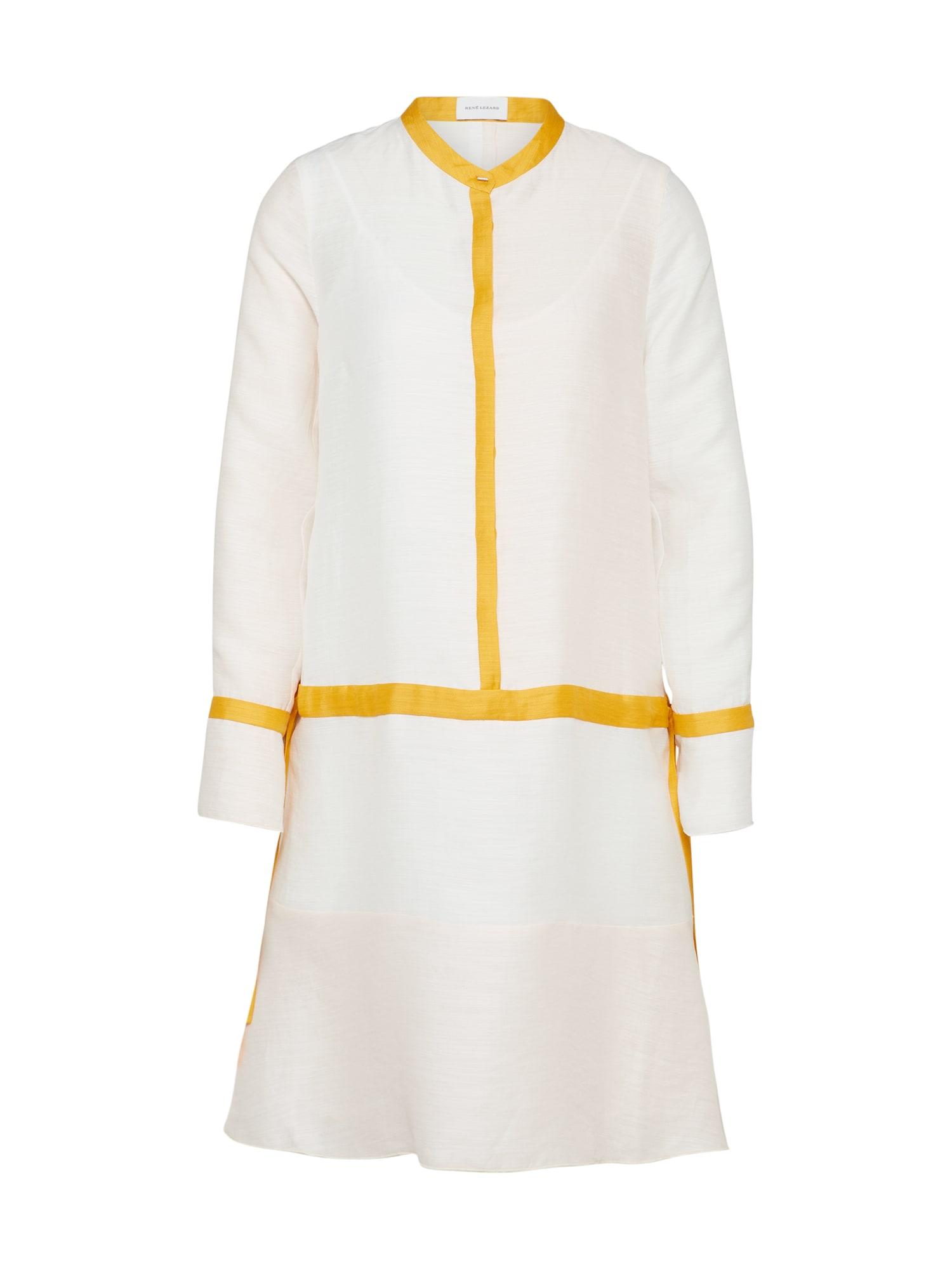 Košilové šaty E026S oranžová offwhite RENÉ LEZARD
