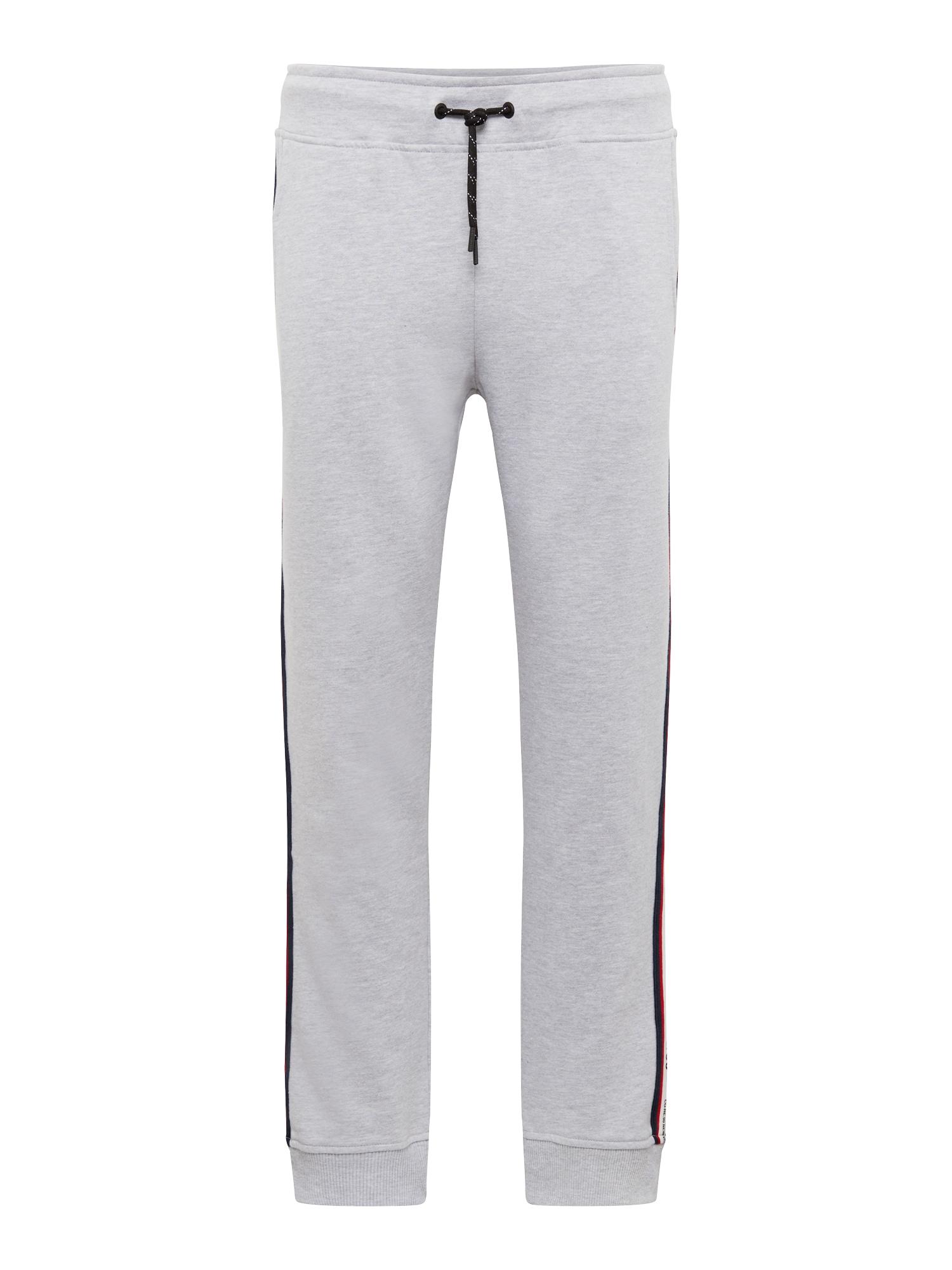 Kalhoty JCOVISION SWEAT PANTS světle šedá JACK & JONES