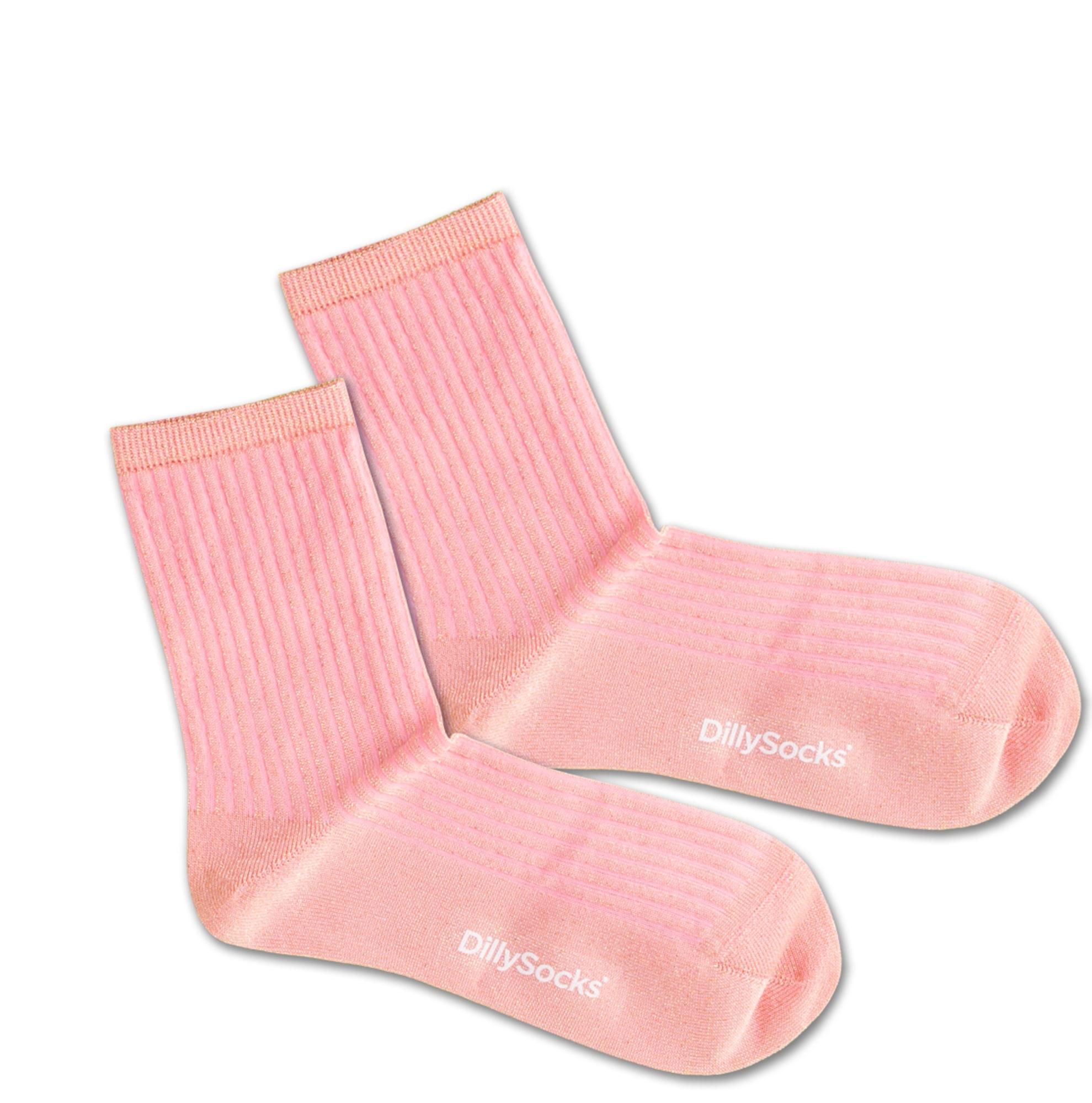 Ponožky Sweet Pink zlatá pink DillySocks