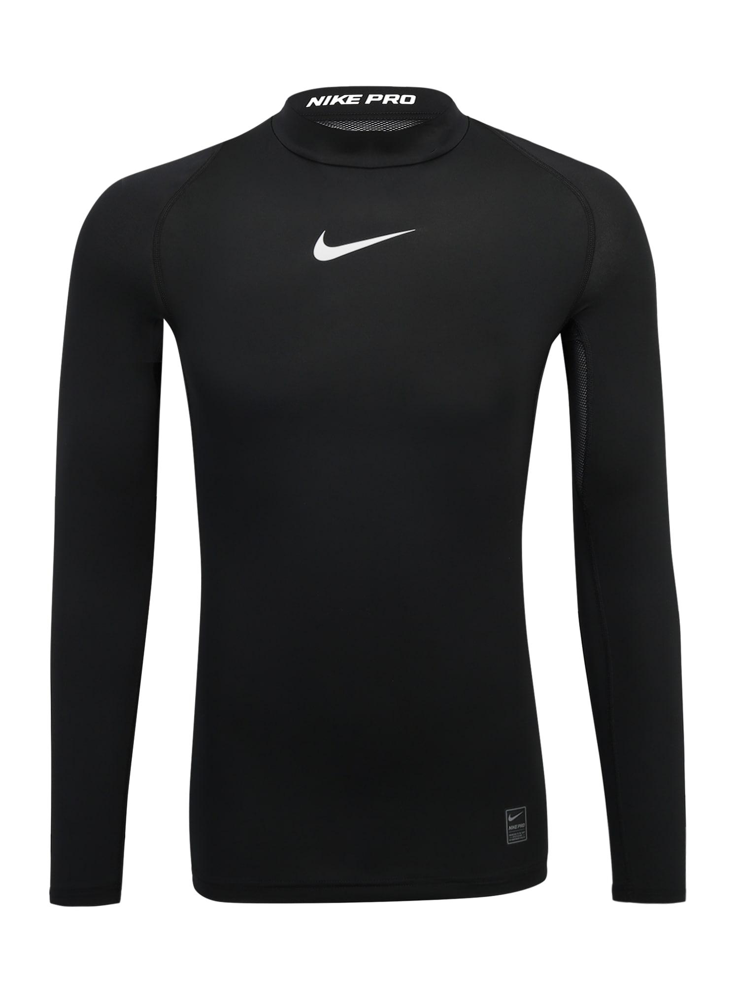 Funkční tričko COMP černá bílá NIKE