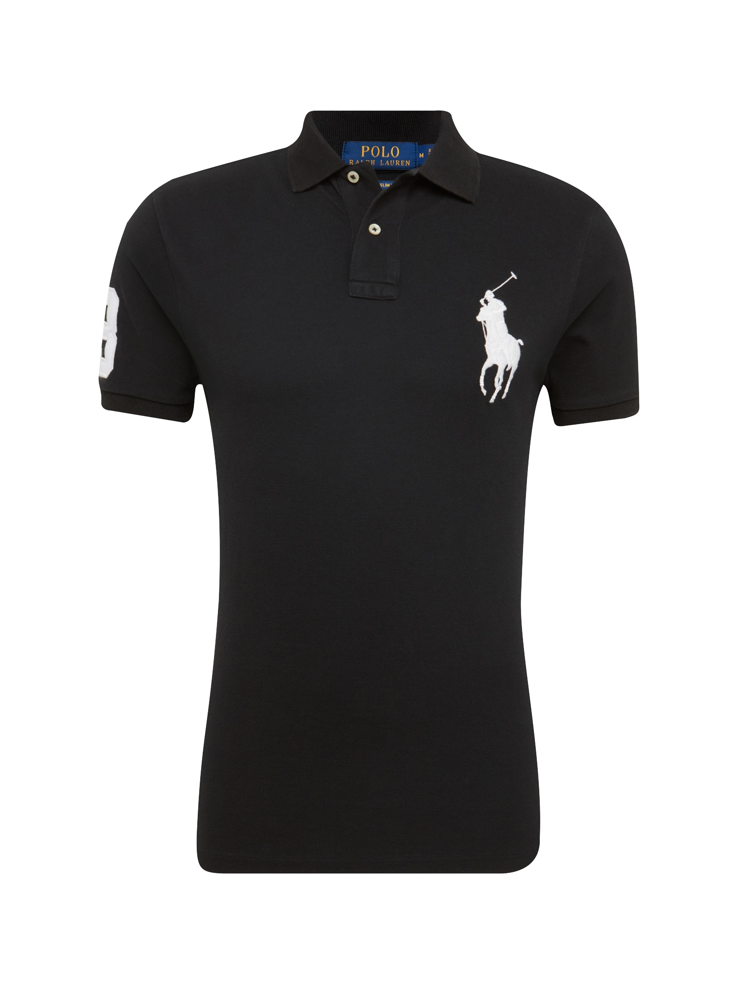 Tričko SSKCBPPCMSL-SHORT SLEEVE-KNIT černá bílá POLO RALPH LAUREN