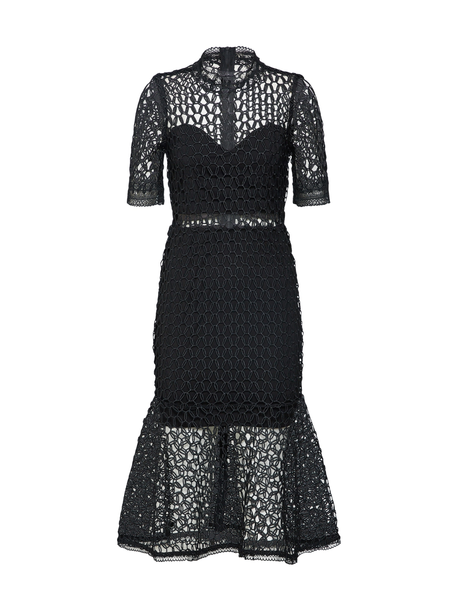 Koktejlové šaty černá Bardot