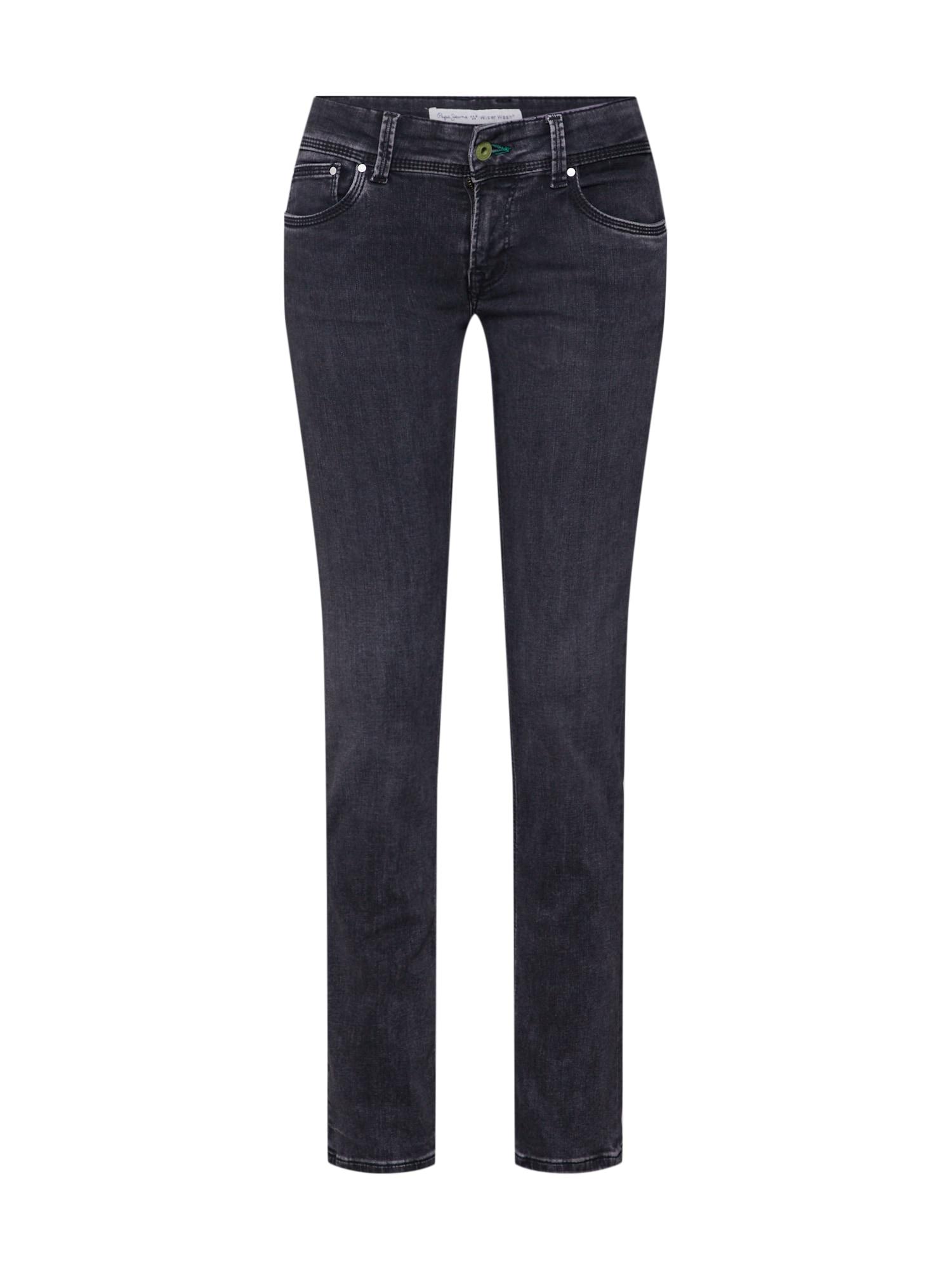 Džíny Saturn černá džínovina Pepe Jeans