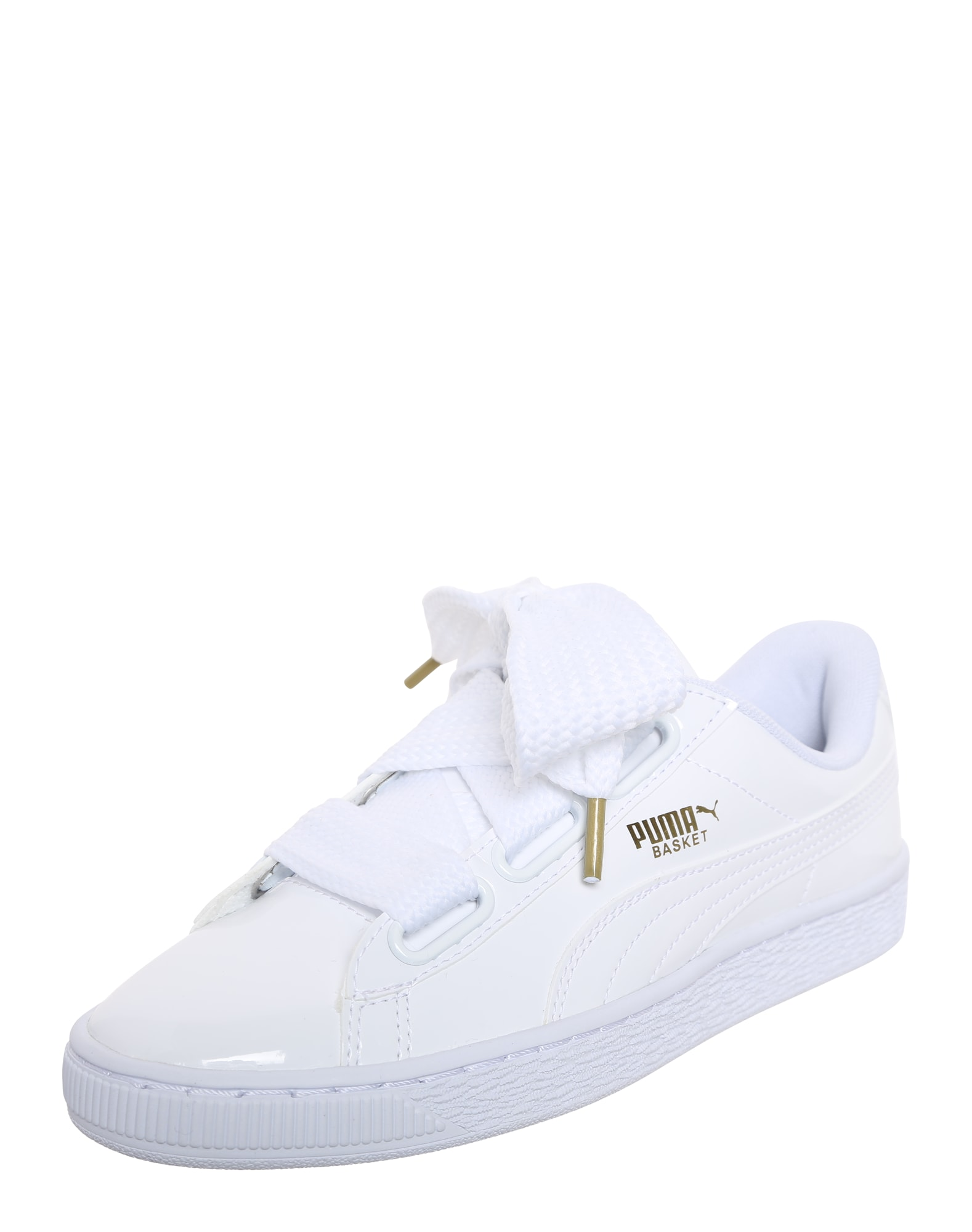 PUMA, Dames Sneakers laag 'Basket Heart Patent', wit