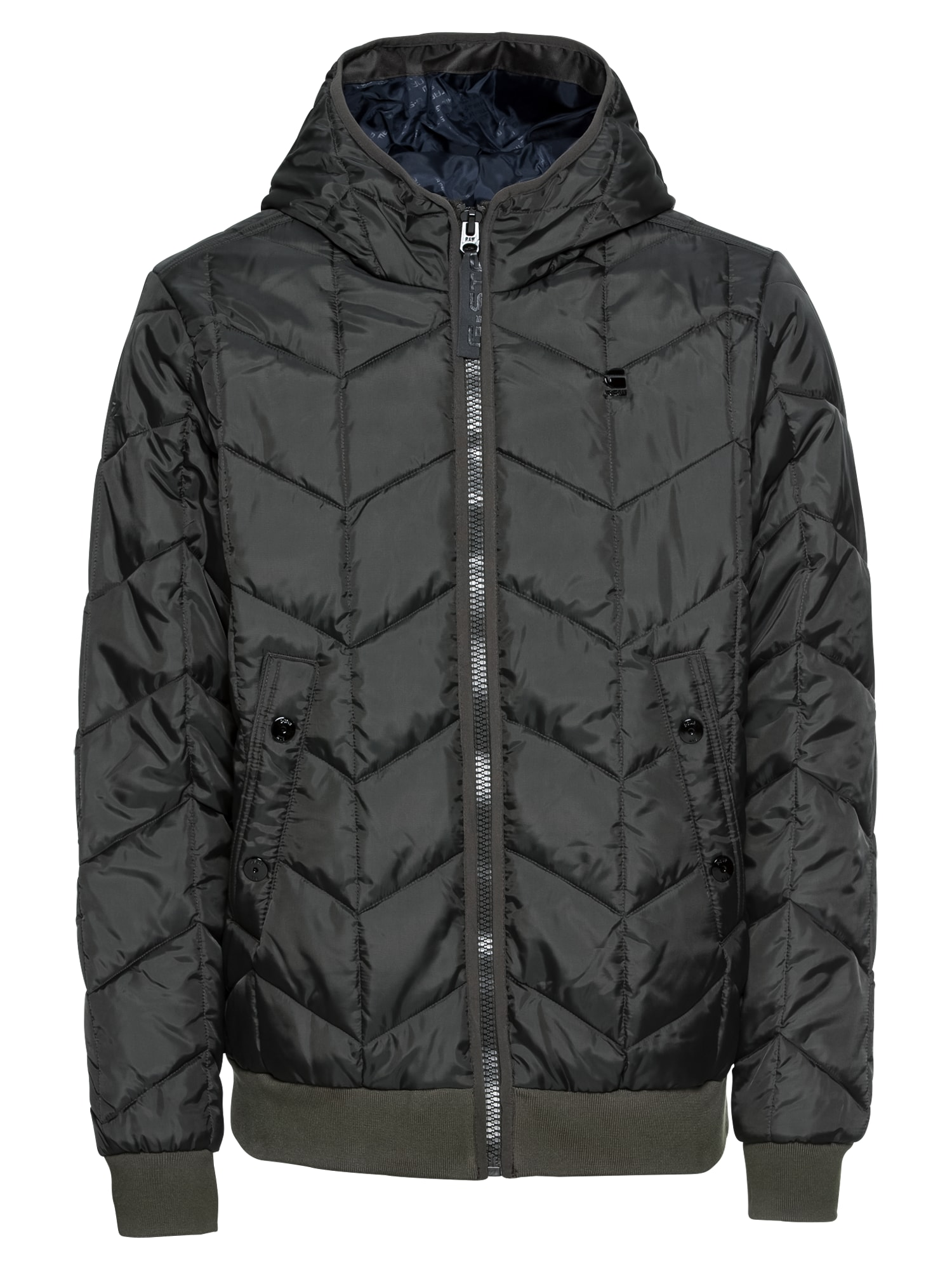 G-STAR RAW Heren Winterjas Whistler meefic quilted hdd bomber donkergrijs