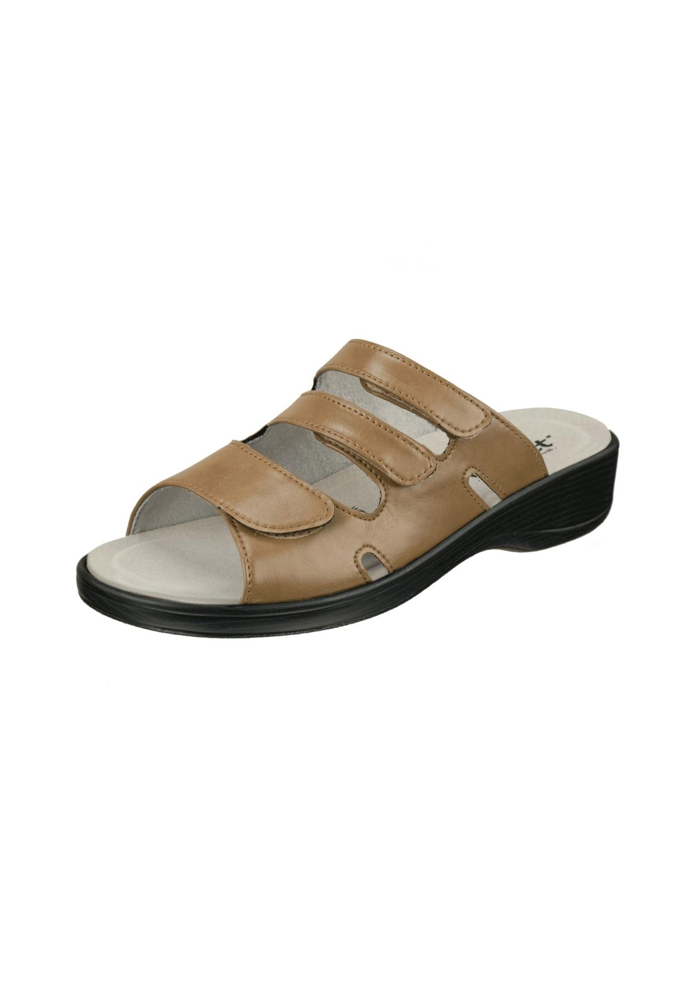 Pantolette 'Ines' | Schuhe > Clogs & Pantoletten | Hellbraun | Natural Feet