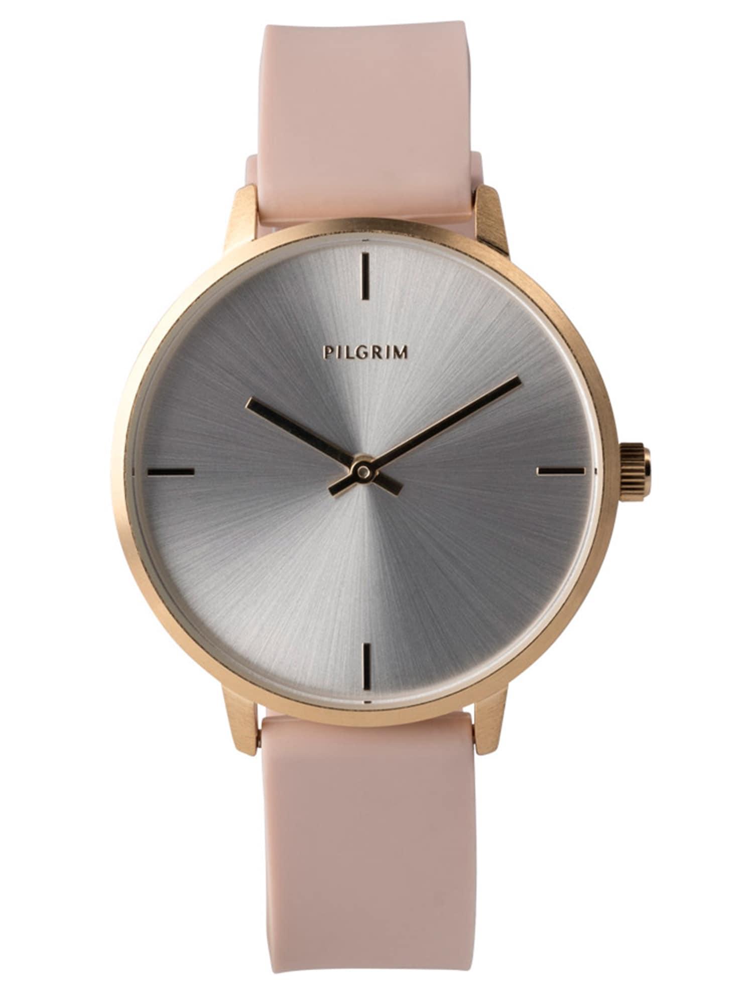 Analogové hodinky Inez zlatá růžová Pilgrim