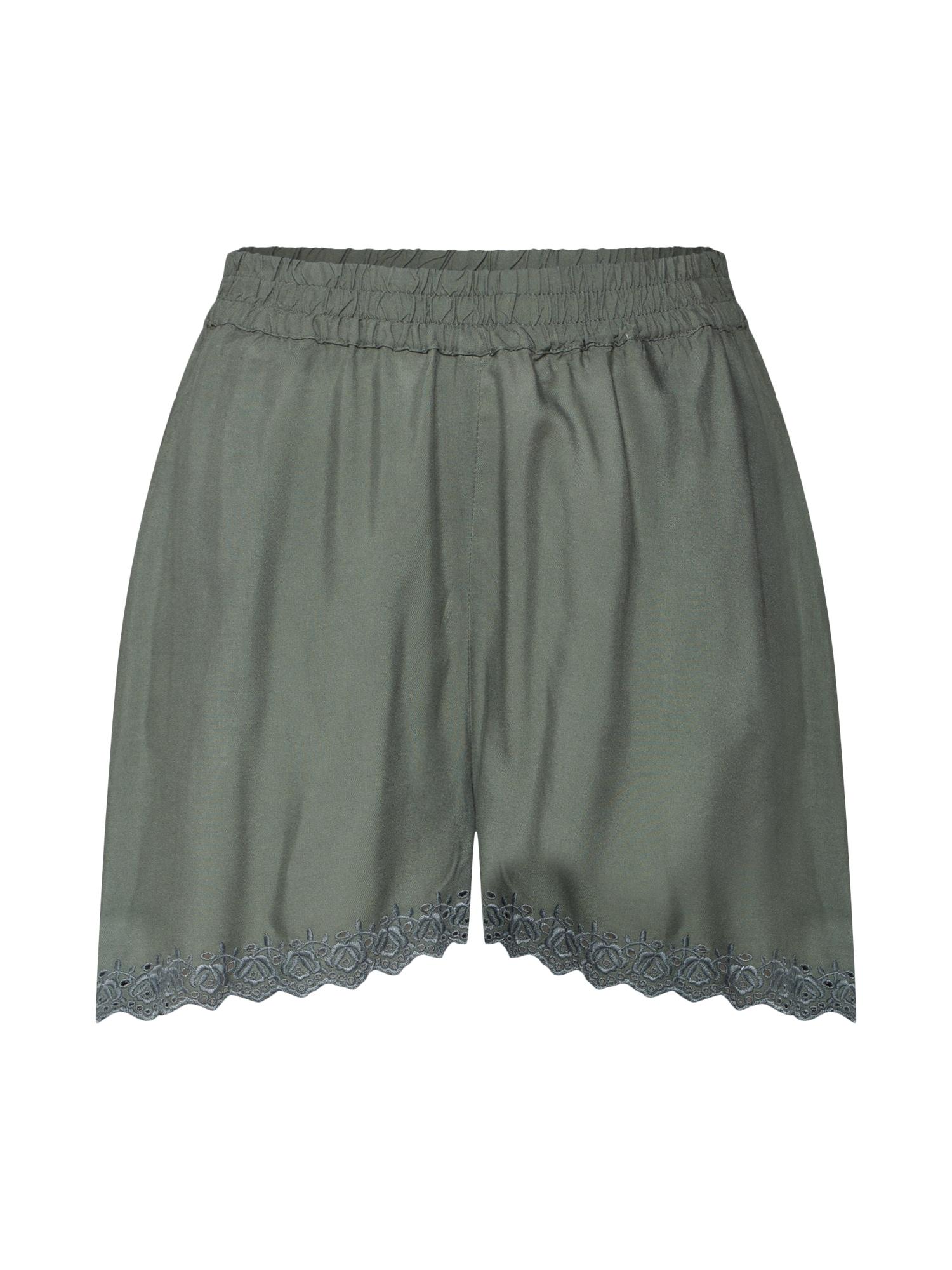 Kalhoty VMSOPHIA NW SHORTS BOX WVN zelená VERO MODA