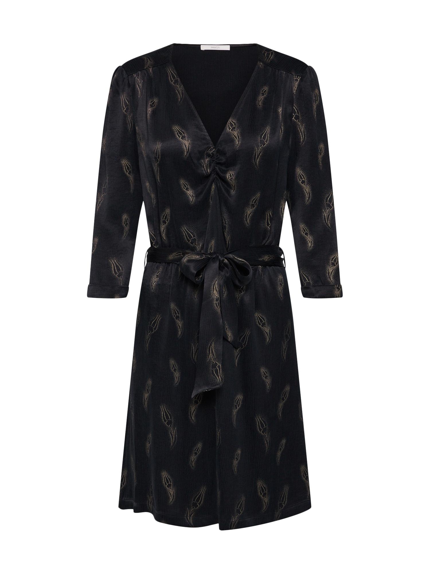 Šaty zlatá černá Sessun