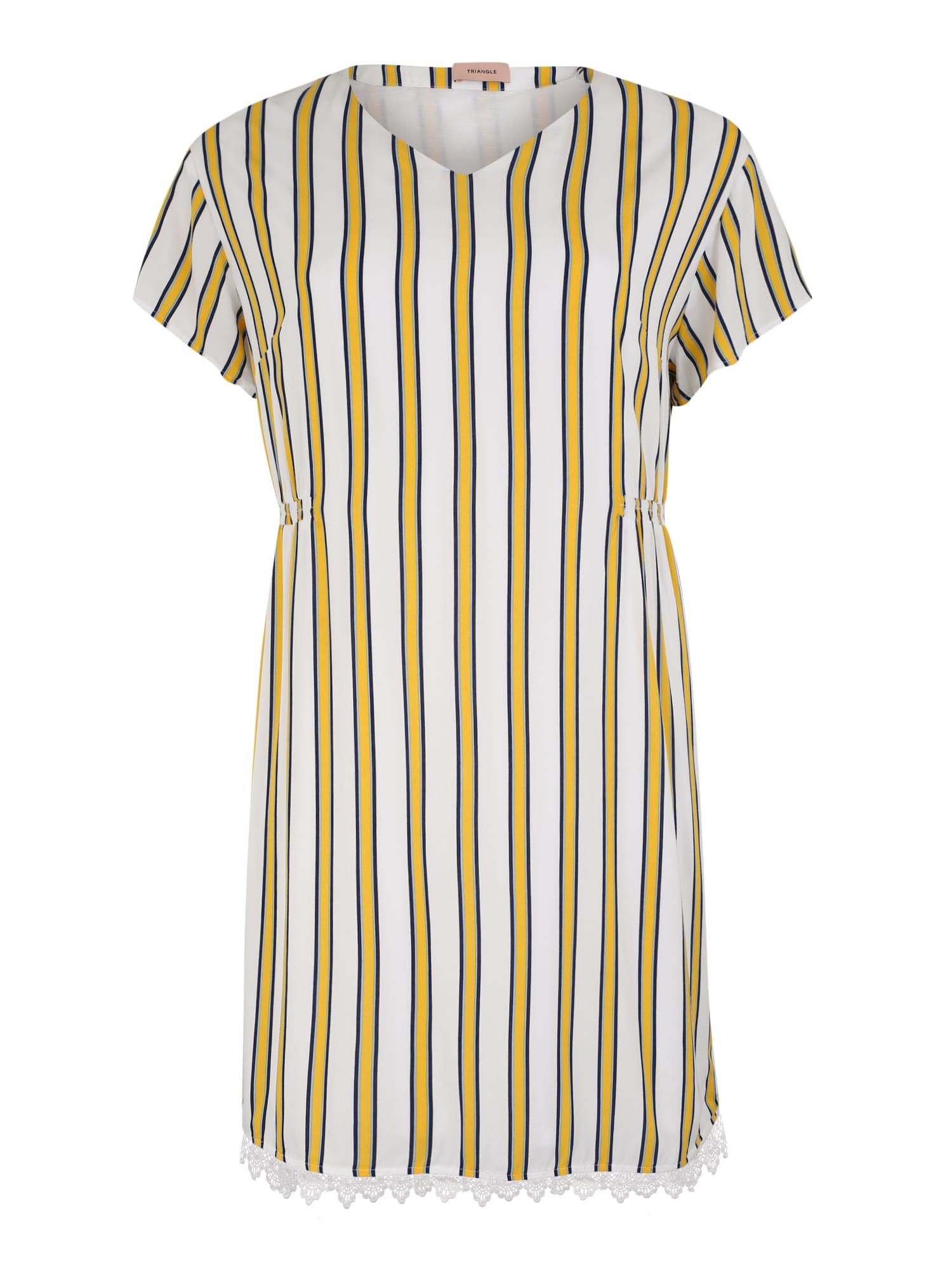 Šaty KLEID KURZ žlutá bílá TRIANGLE